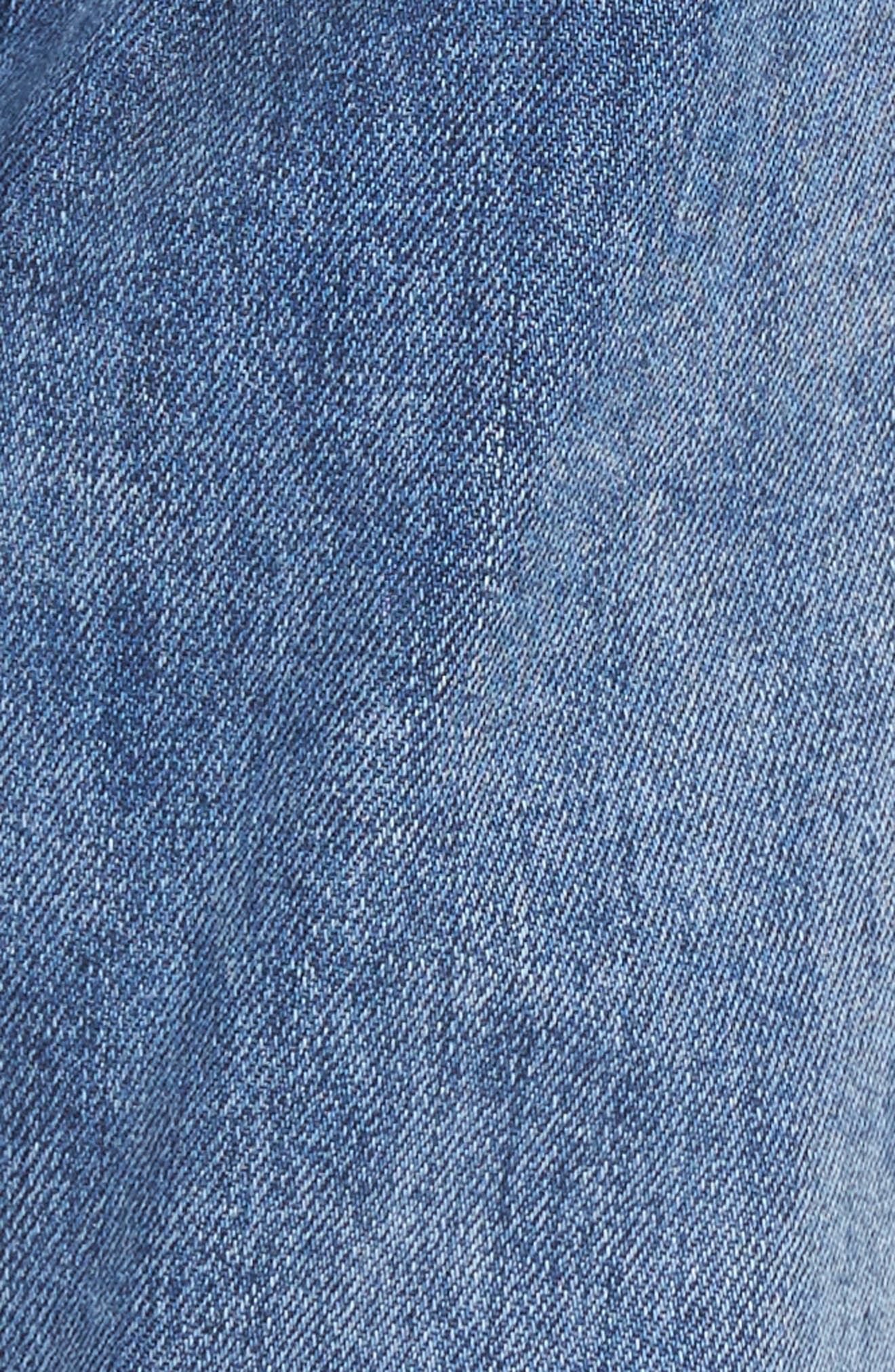Tuckers High Waist Straight Leg Jeans,                             Alternate thumbnail 5, color,