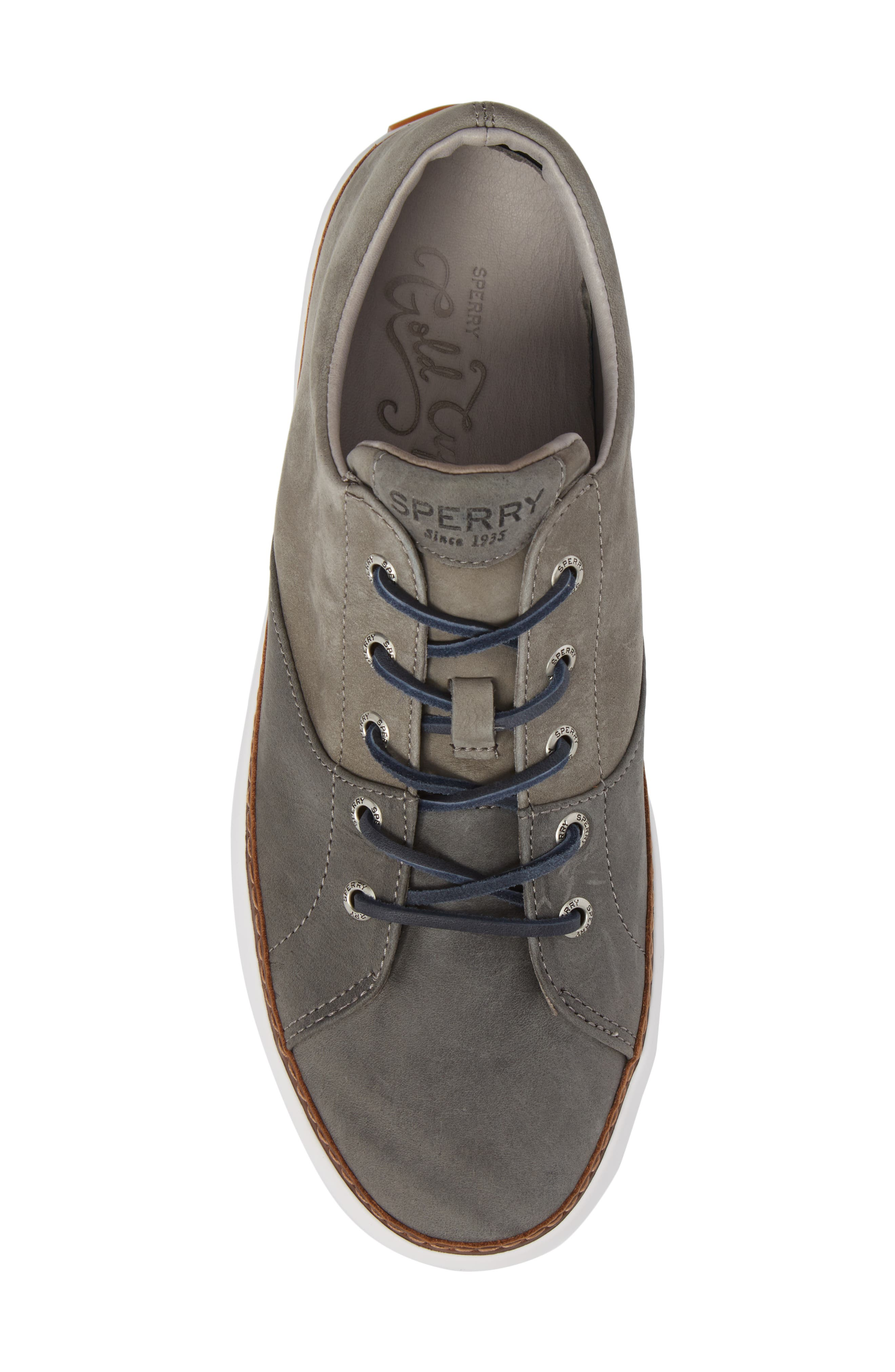 Gold Cup Haven Sneaker,                             Alternate thumbnail 5, color,                             GREY LEATHER
