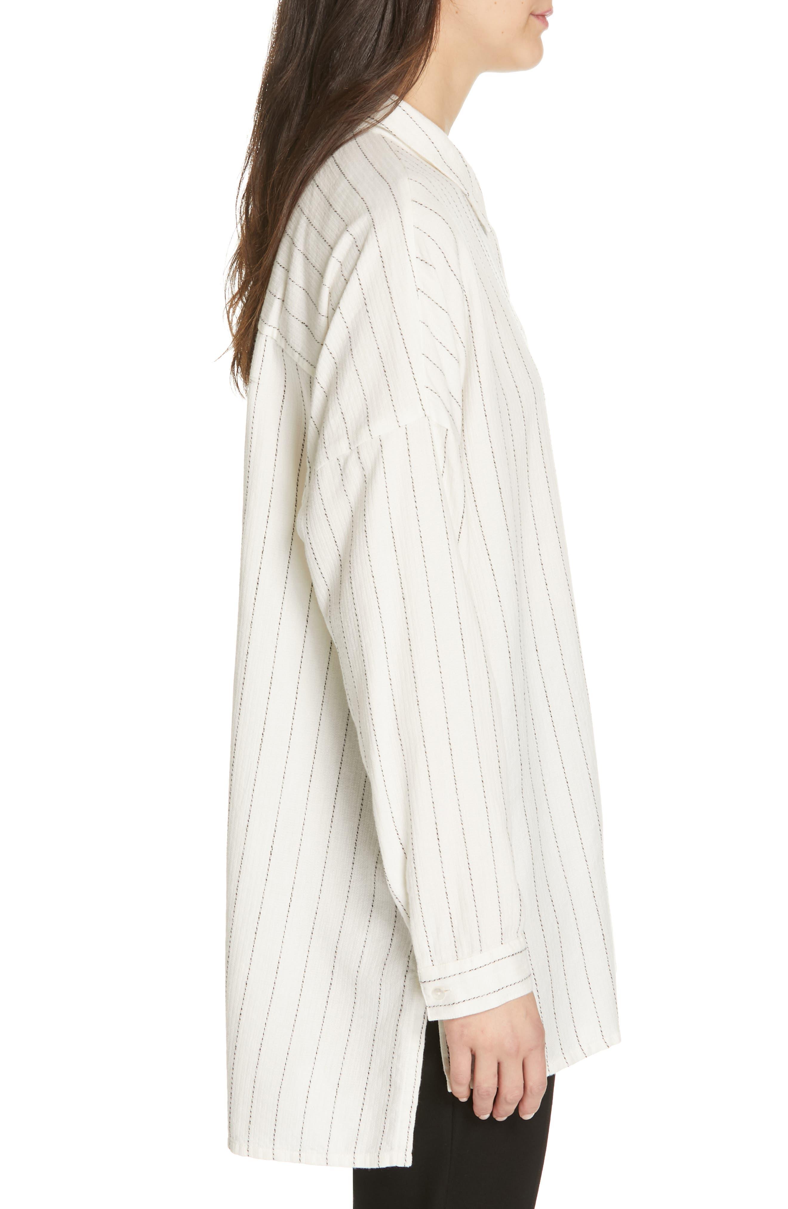 Boxy Stripe Shirt,                             Alternate thumbnail 3, color,                             ECRU