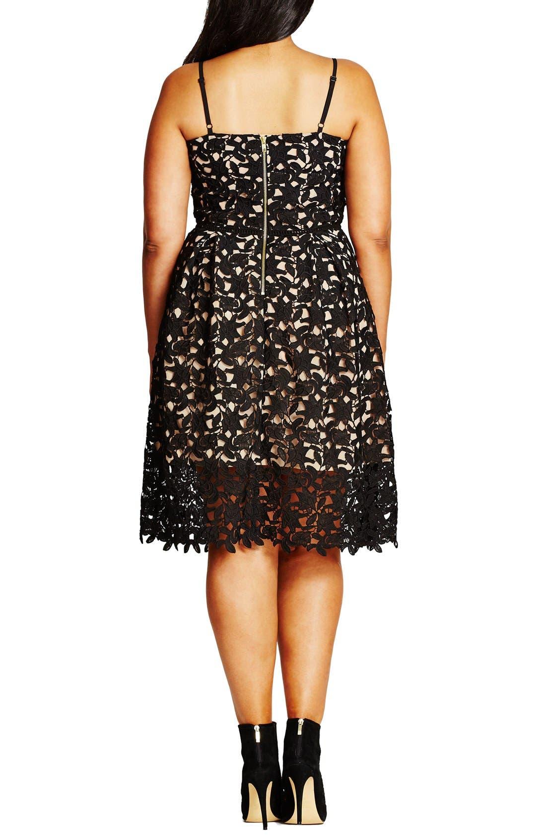 So Fancy Lace Dress,                             Alternate thumbnail 3, color,                             BLACK