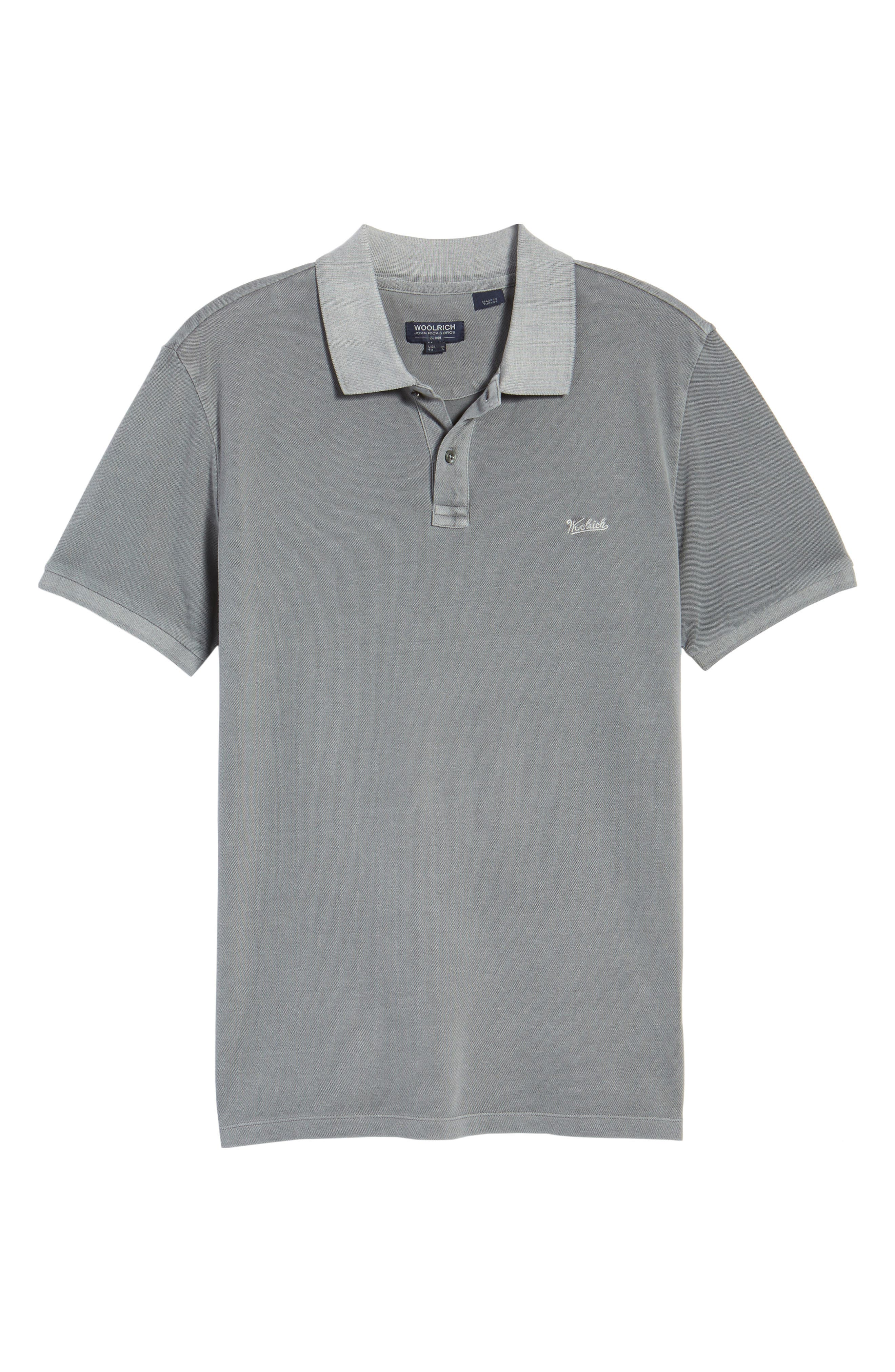 & Bros. Vintage Mackinack Polo,                             Alternate thumbnail 6, color,                             STEEL GREY