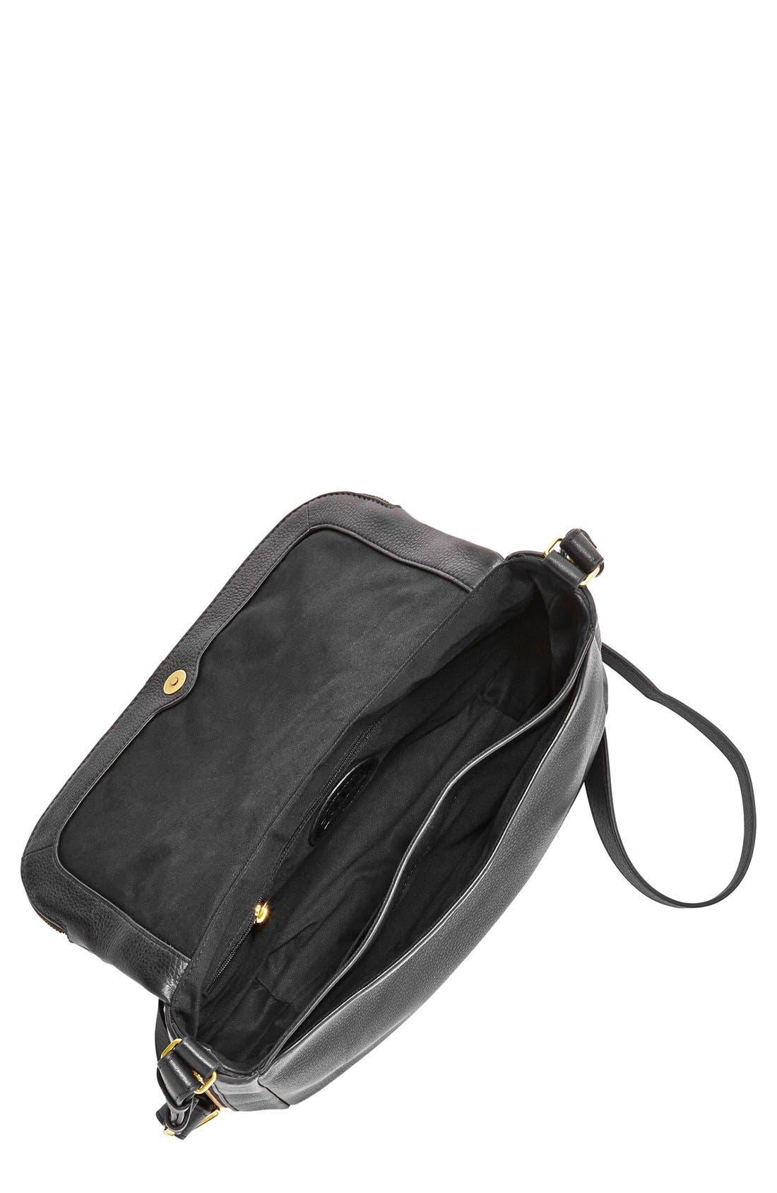 FOSSIL,                             'Preston' Leather Shoulder Bag,                             Alternate thumbnail 3, color,                             001