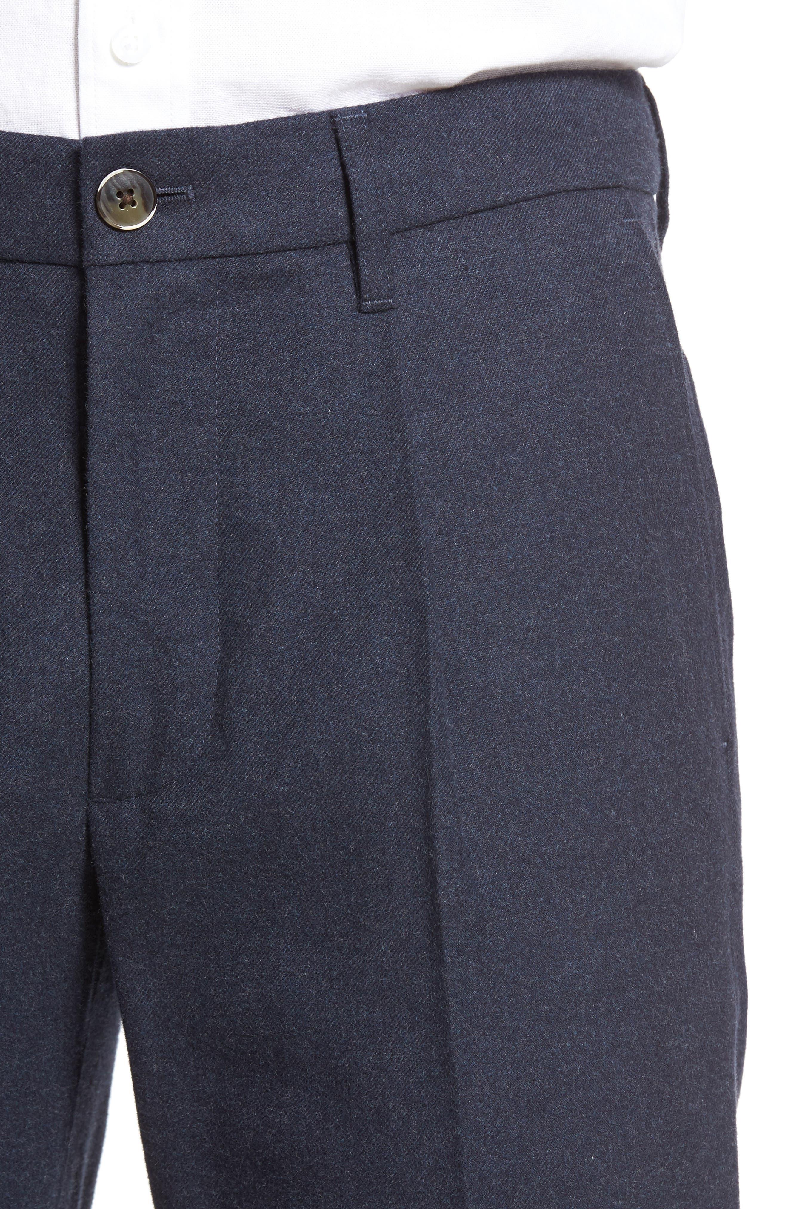 BONOBOS,                             Slim Fit Flannel Trousers,                             Alternate thumbnail 5, color,                             400