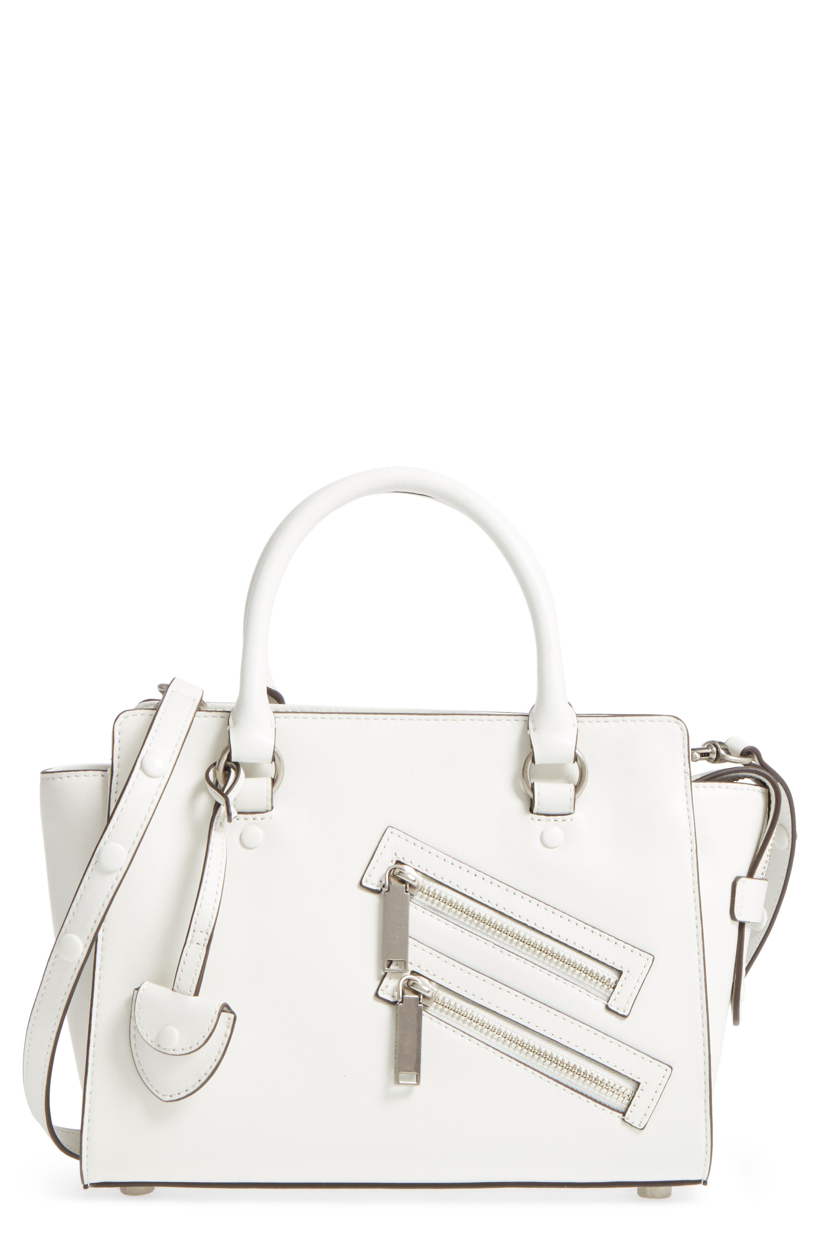 Small Jamie Leather Satchel,                             Main thumbnail 3, color,