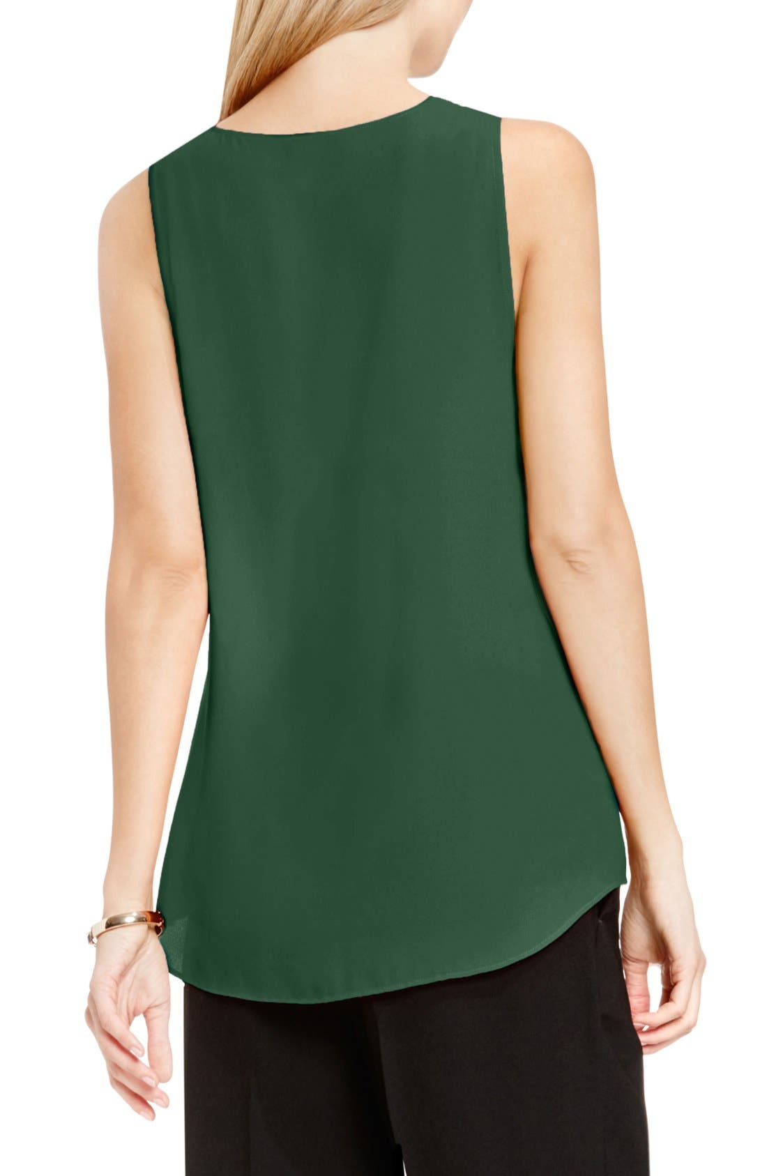 Drape Front V-Neck Sleeveless Blouse,                             Alternate thumbnail 84, color,