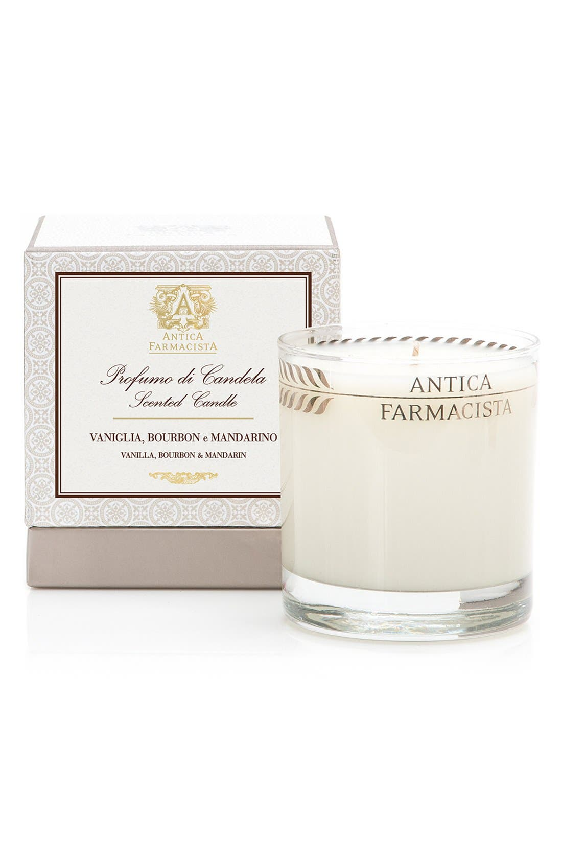 Vanilla, Bourbon & Mandarin Candle,                         Main,                         color, NO COLOR