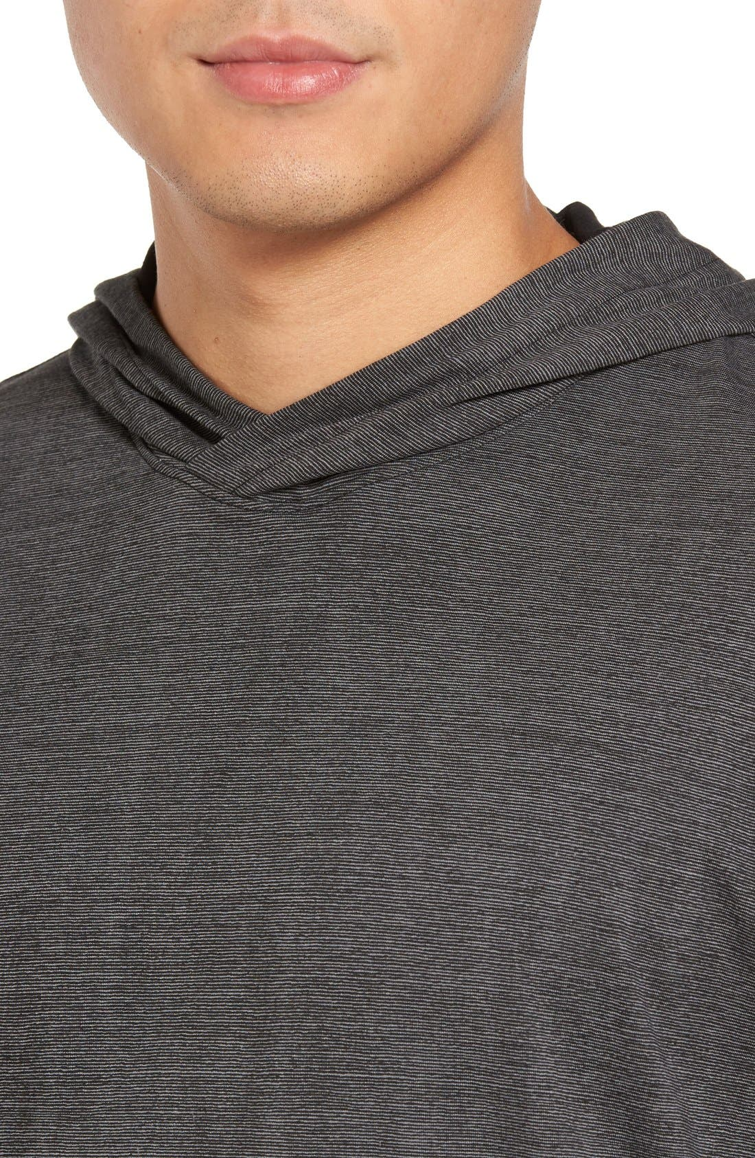 Lightweight Double Layer Hoodie,                             Alternate thumbnail 5, color,                             001
