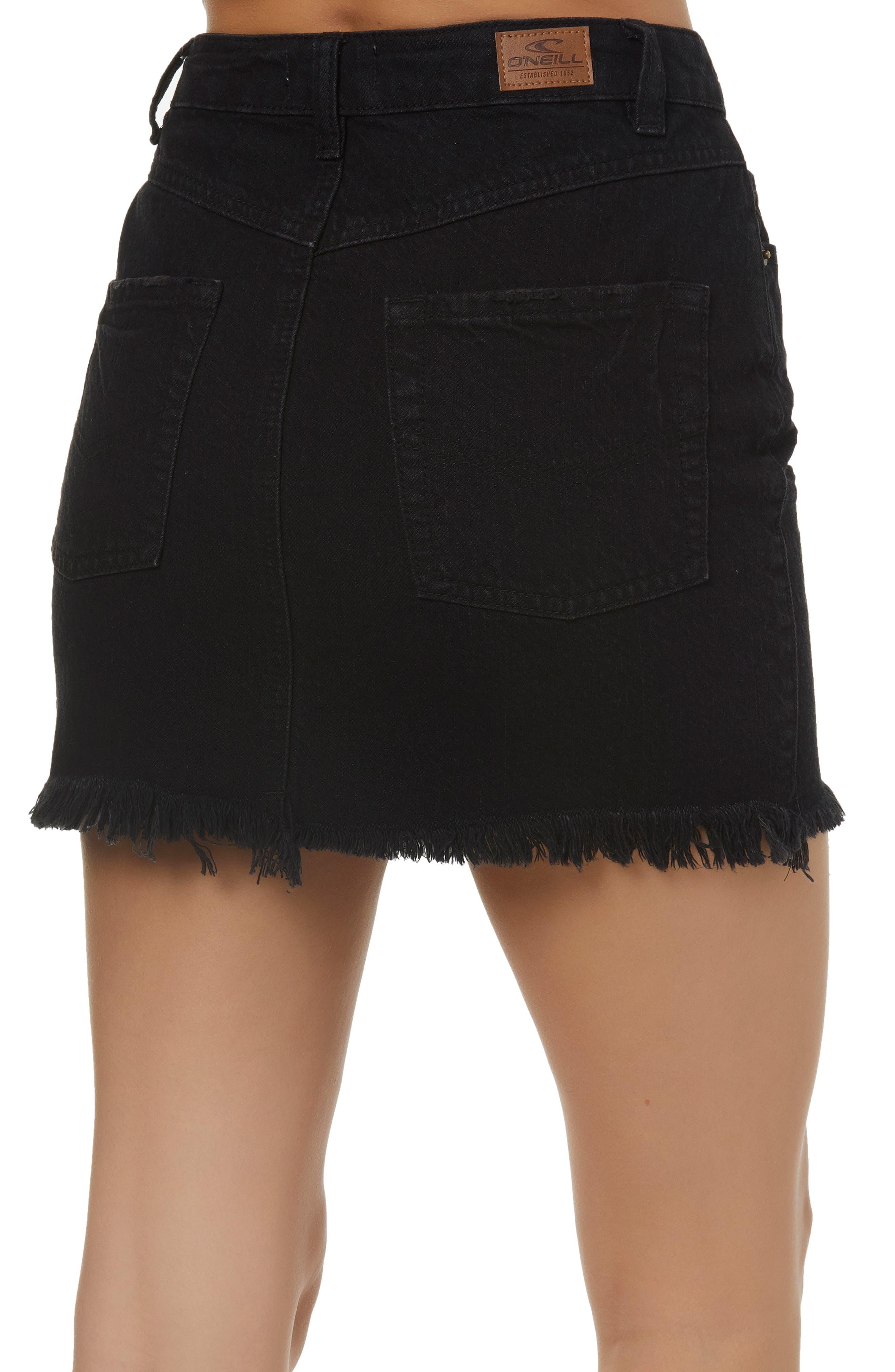 Jasmine Denim Skirt,                             Alternate thumbnail 2, color,                             001