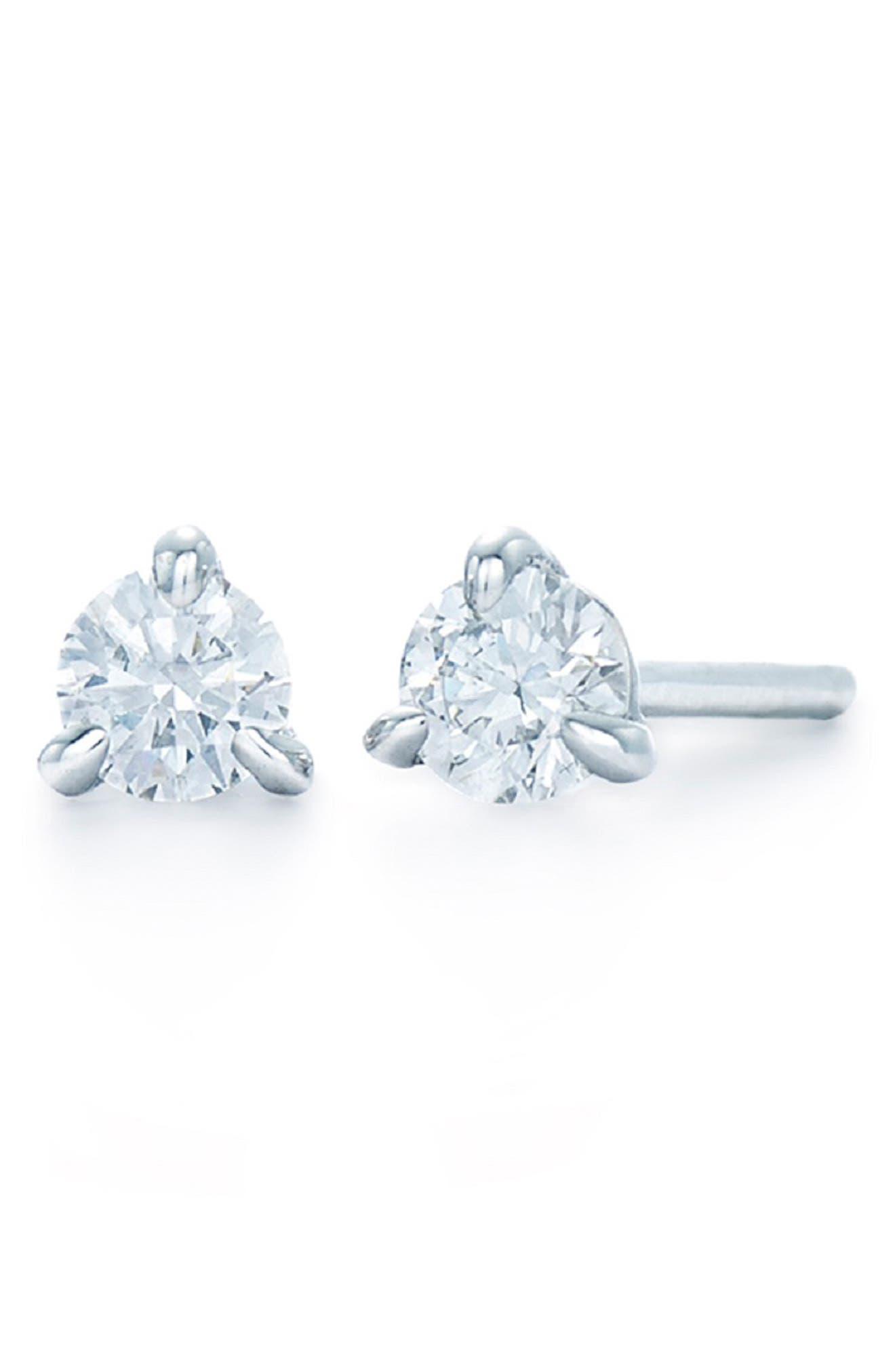 0.25ct tw Diamond & Platinum Stud Earrings,                             Alternate thumbnail 2, color,                             PLATINUM