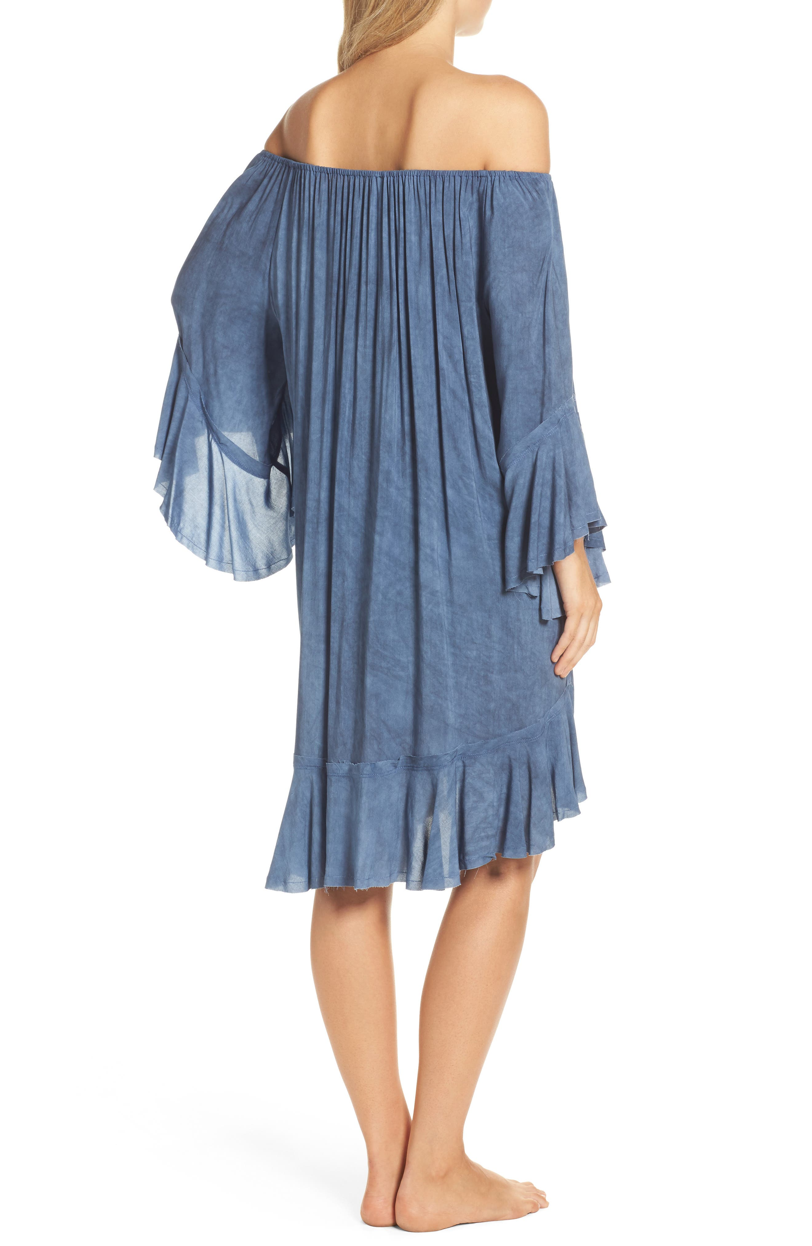 Off the Shoulder Cover-Up,                             Alternate thumbnail 4, color,