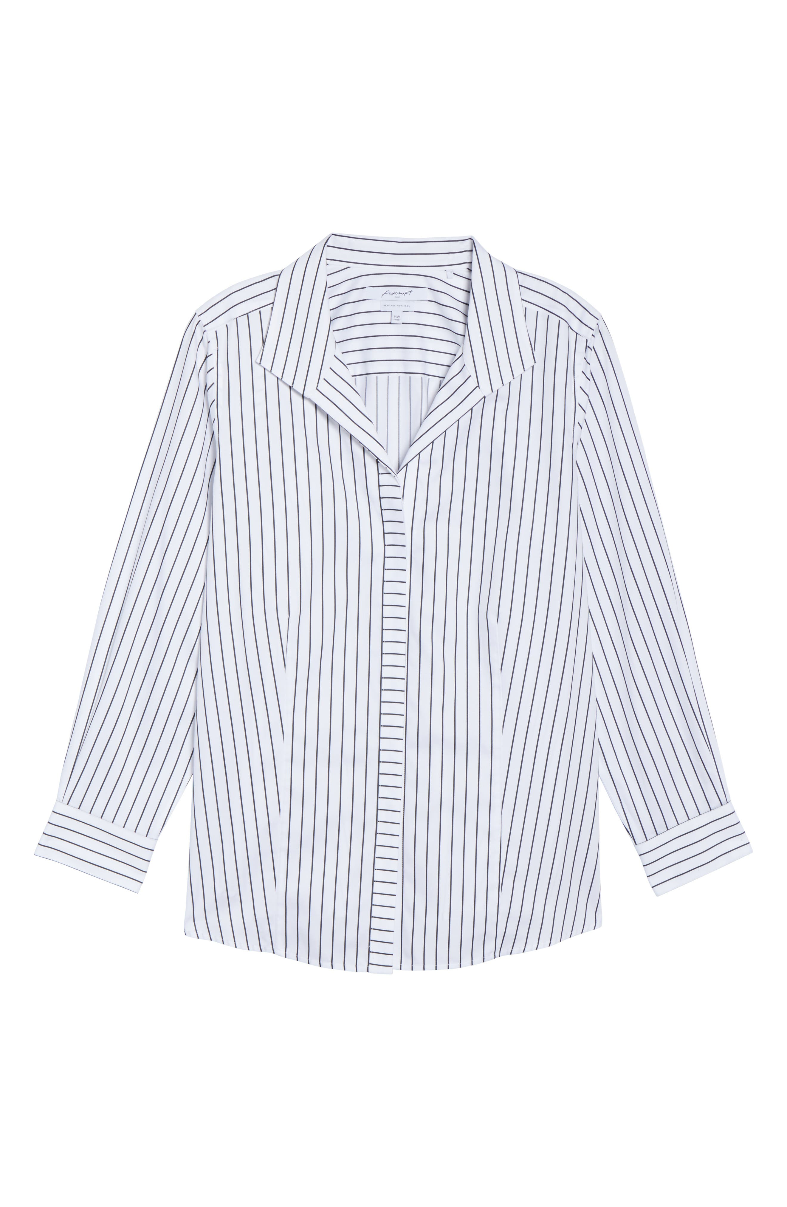 Annie Holiday Stripe Shirt,                             Alternate thumbnail 6, color,                             100