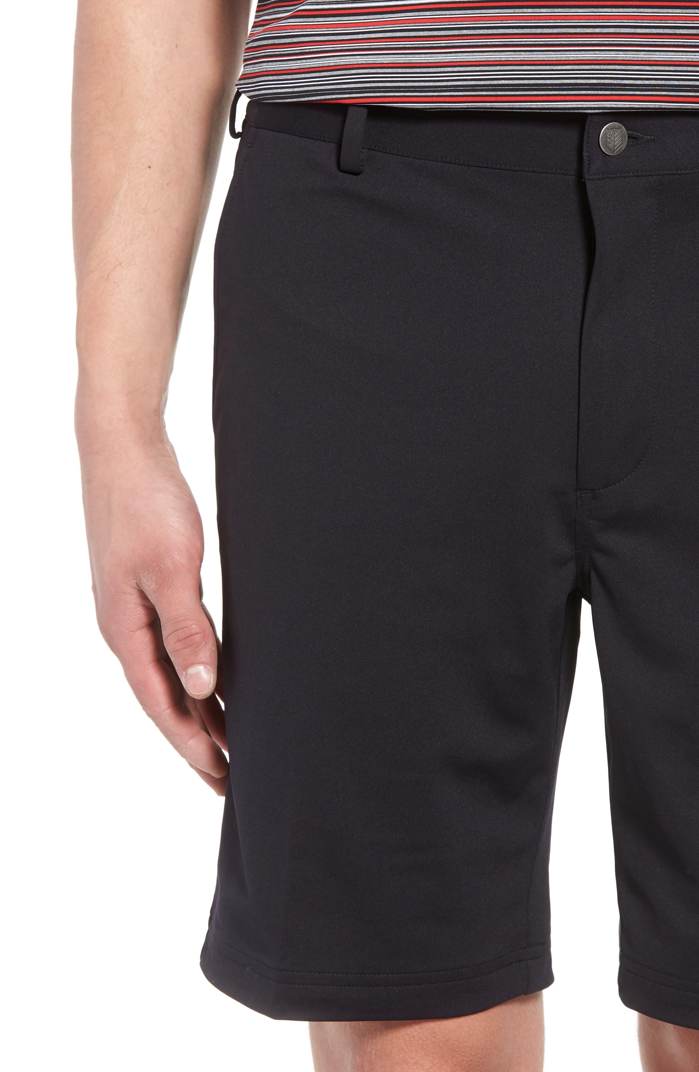 BOBBY JONES,                             Trim Fit Tech Chino Shorts,                             Alternate thumbnail 4, color,                             001