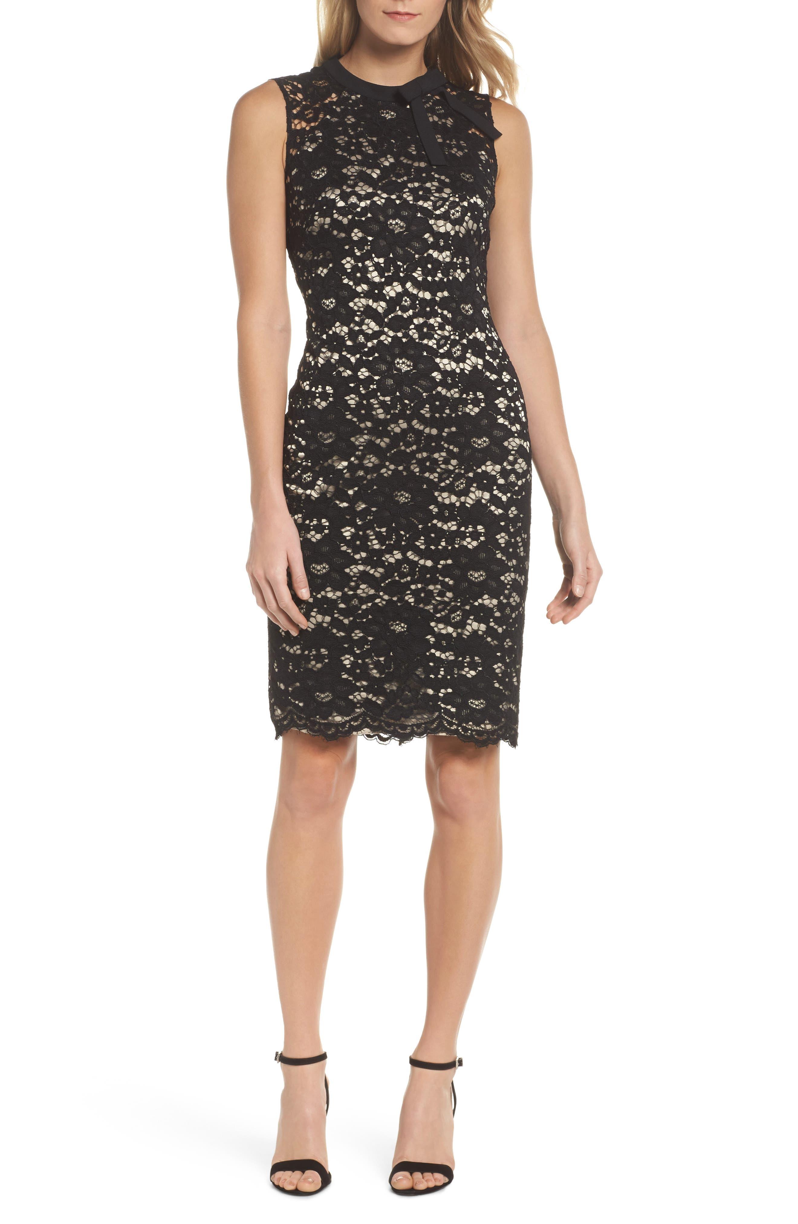 Lace Sheath Dress,                             Main thumbnail 1, color,