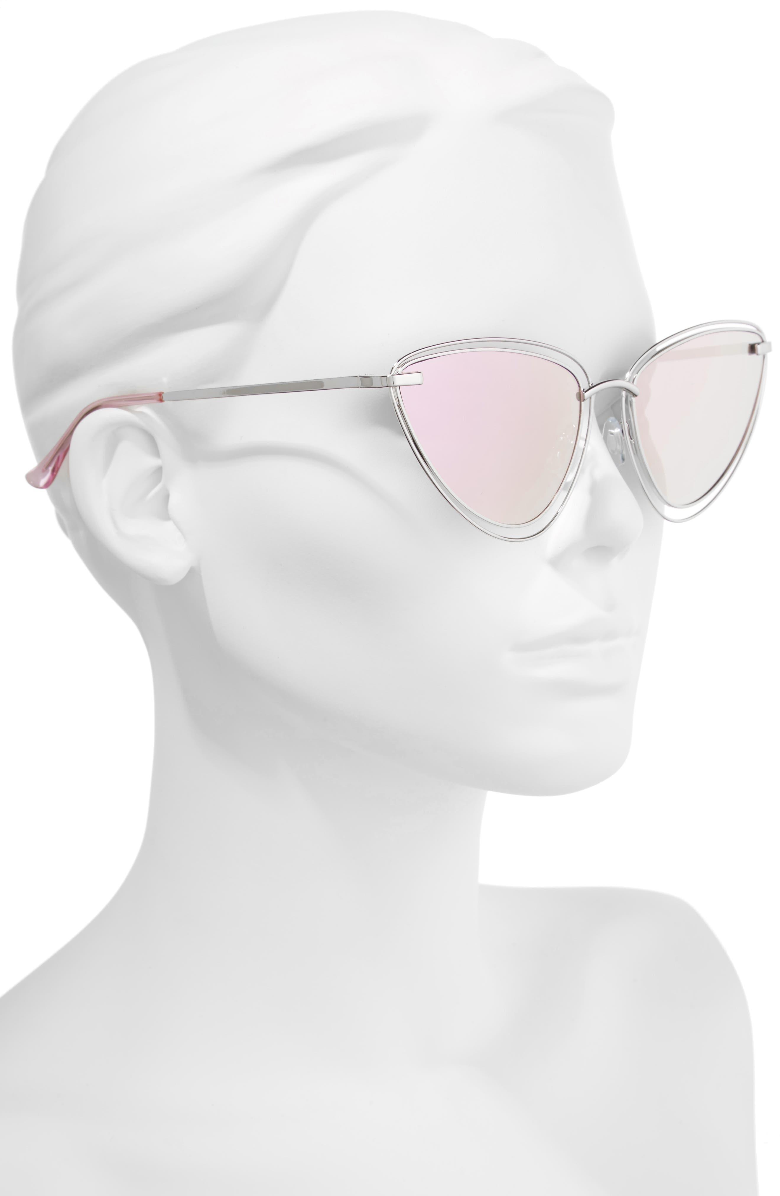 55mm Metal Cat Eye Sunglasses,                             Alternate thumbnail 2, color,                             040