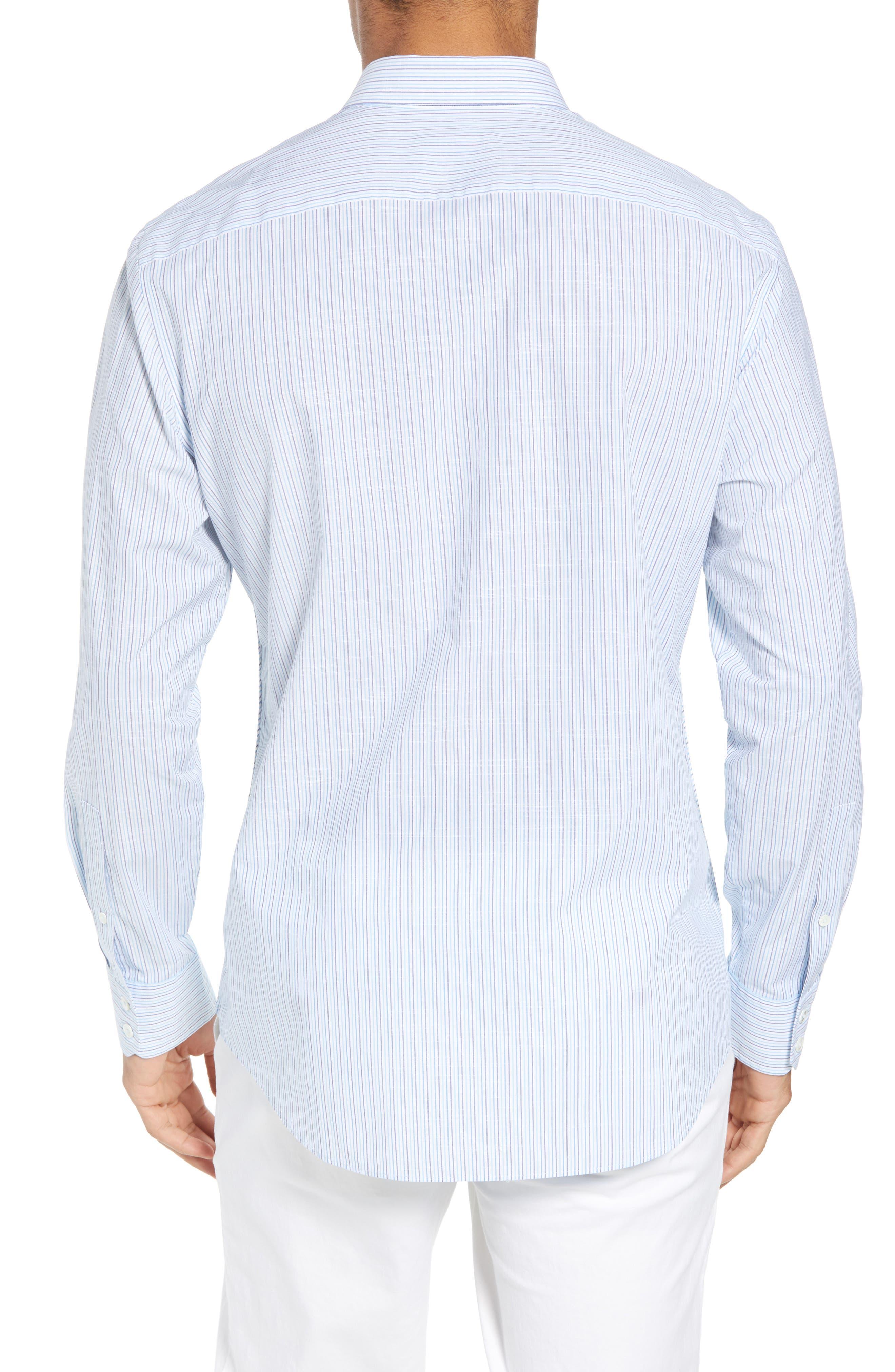 Skeeter Stripe Sport Shirt,                             Alternate thumbnail 2, color,                             440