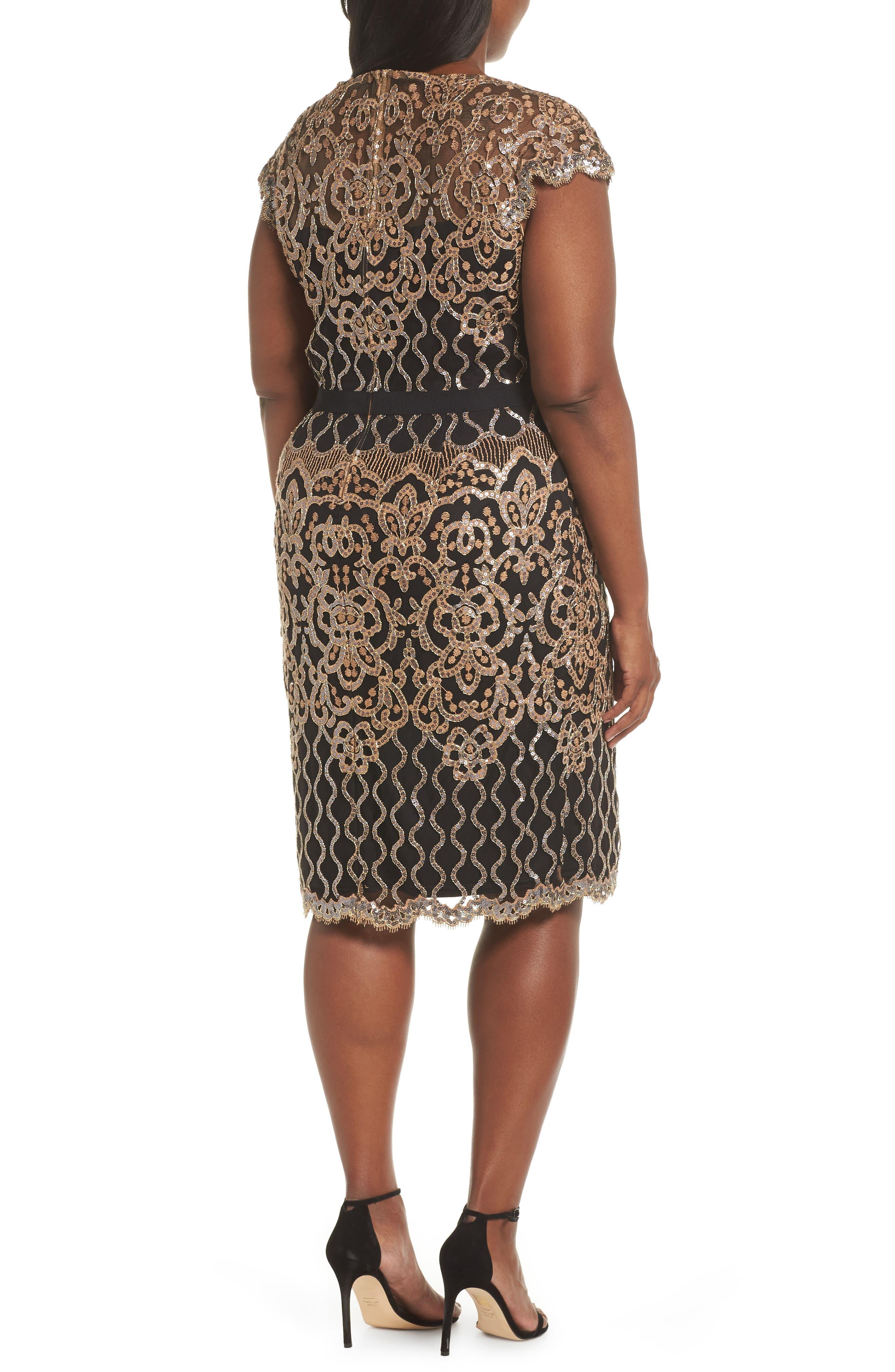 Sequin Embellished Dress,                             Alternate thumbnail 9, color,                             COPPER SHADOW/ BLACK