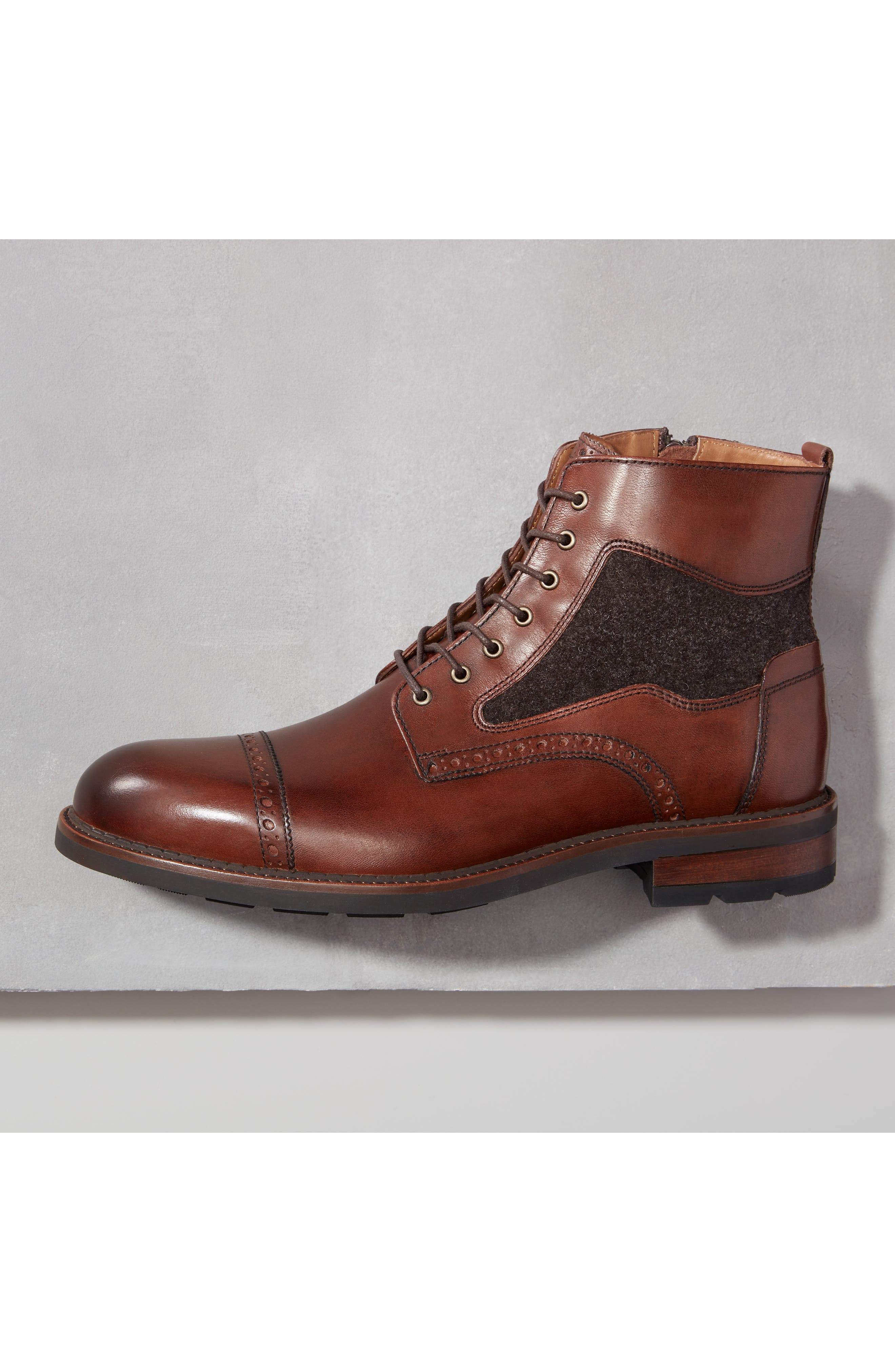 Fullerton Zip Boot,                             Alternate thumbnail 8, color,                             MAHOGANY