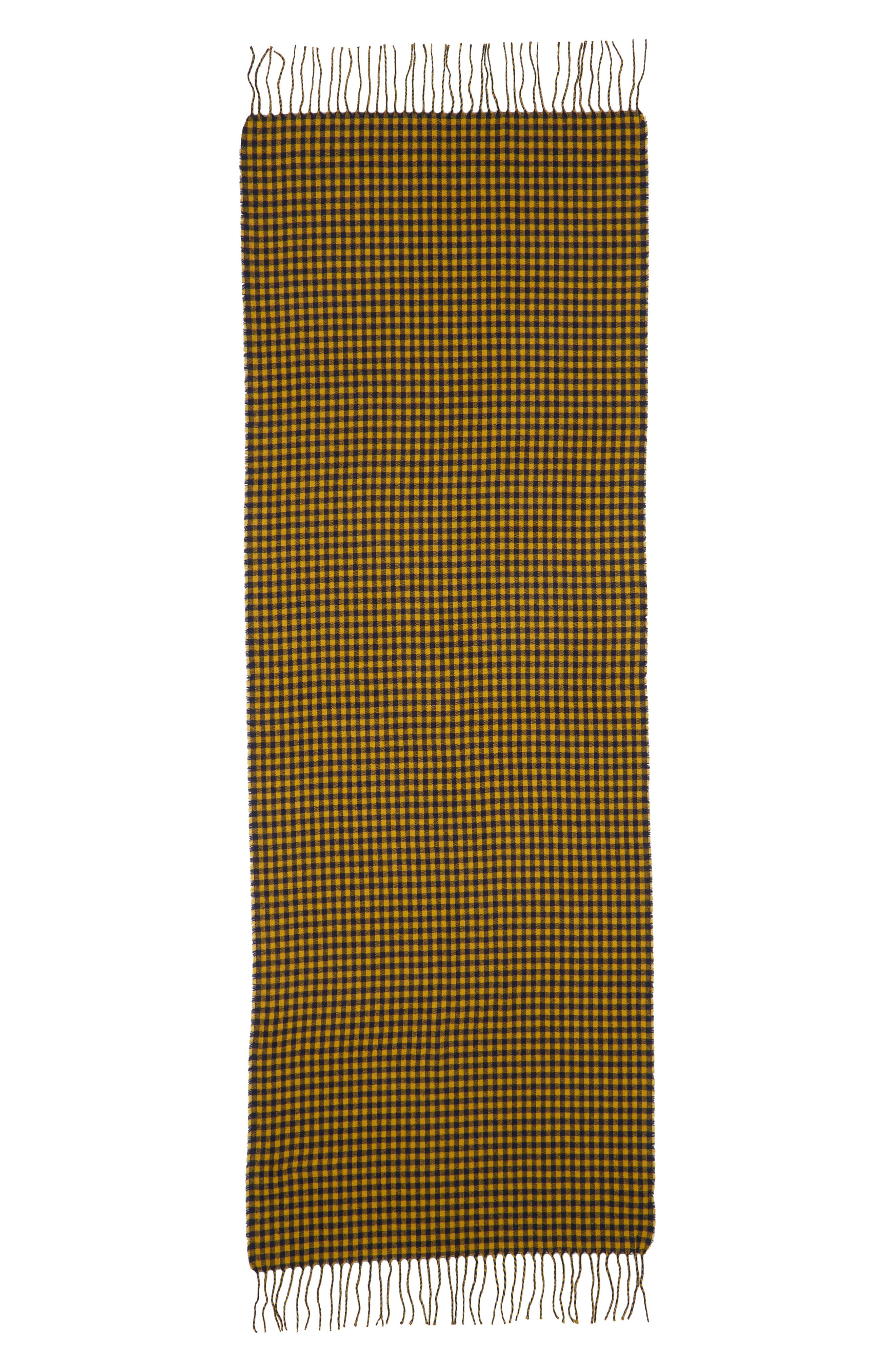 Two-Tone Checkered Scarf,                             Alternate thumbnail 2, color,                             YELLOW MULTI