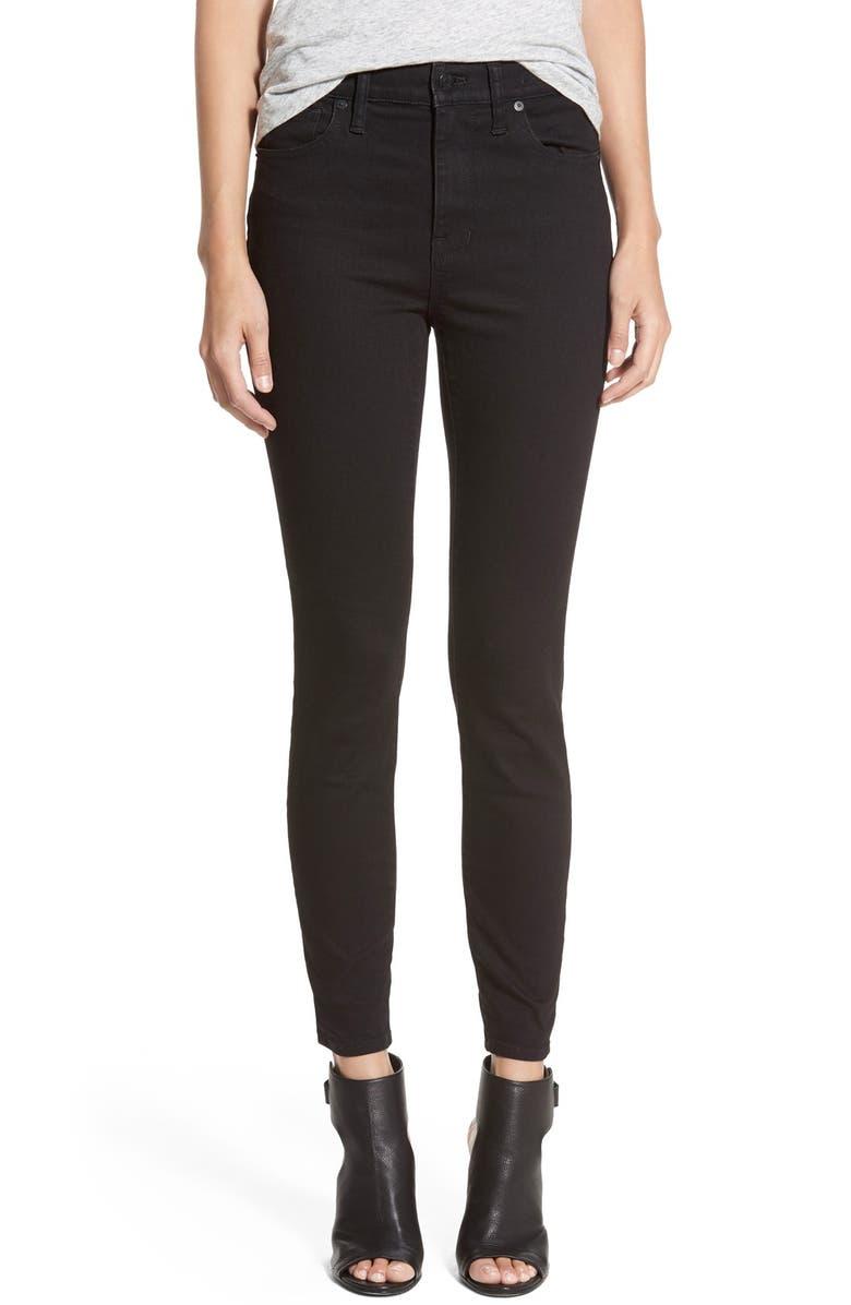 ef0ff1c23d21c Madewell High Riser Skinny Skinny Jeans (Black Frost) (Regular ...