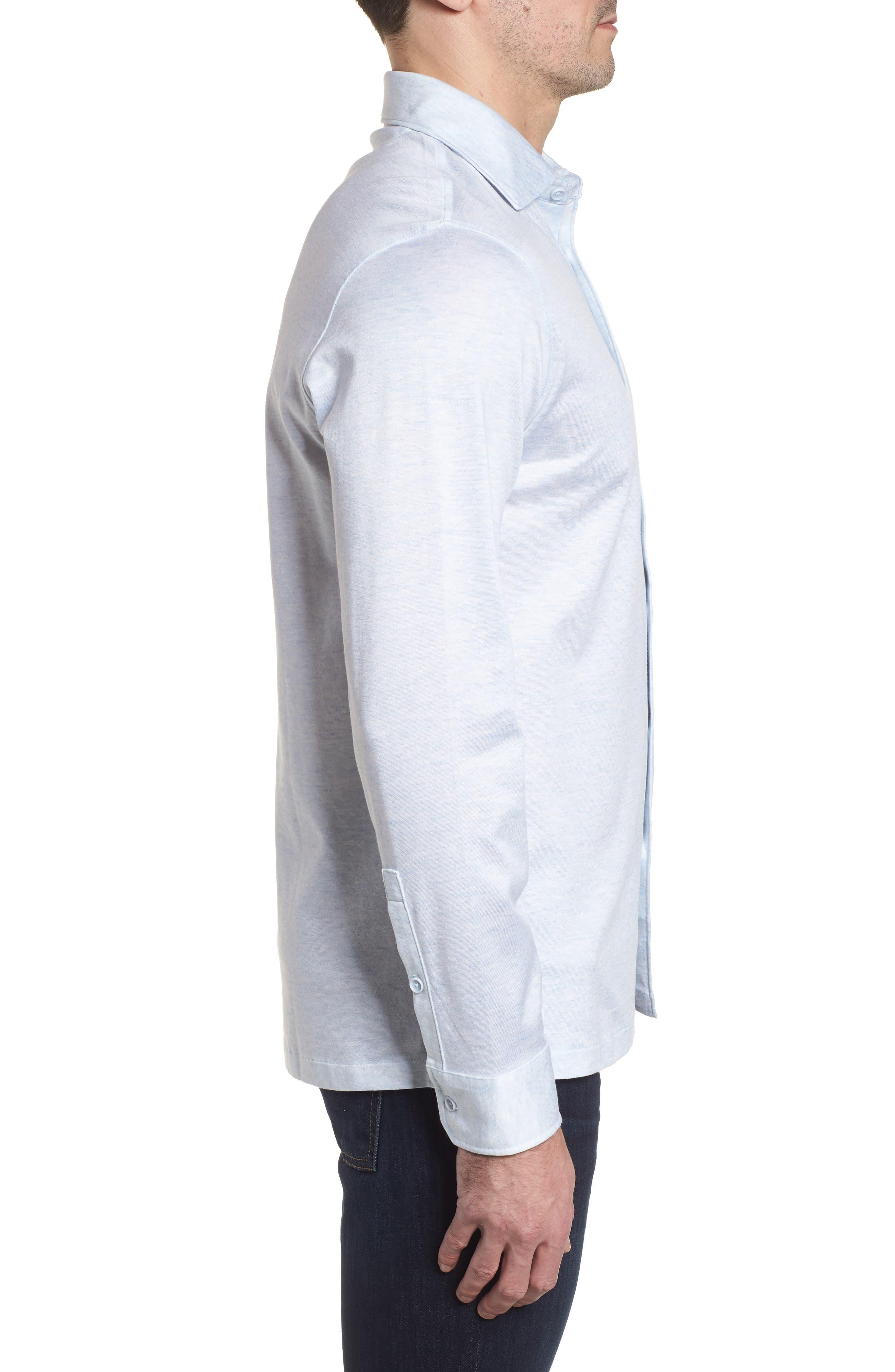 Regular Fit Silk Blend Sport Shirt,                             Alternate thumbnail 15, color,