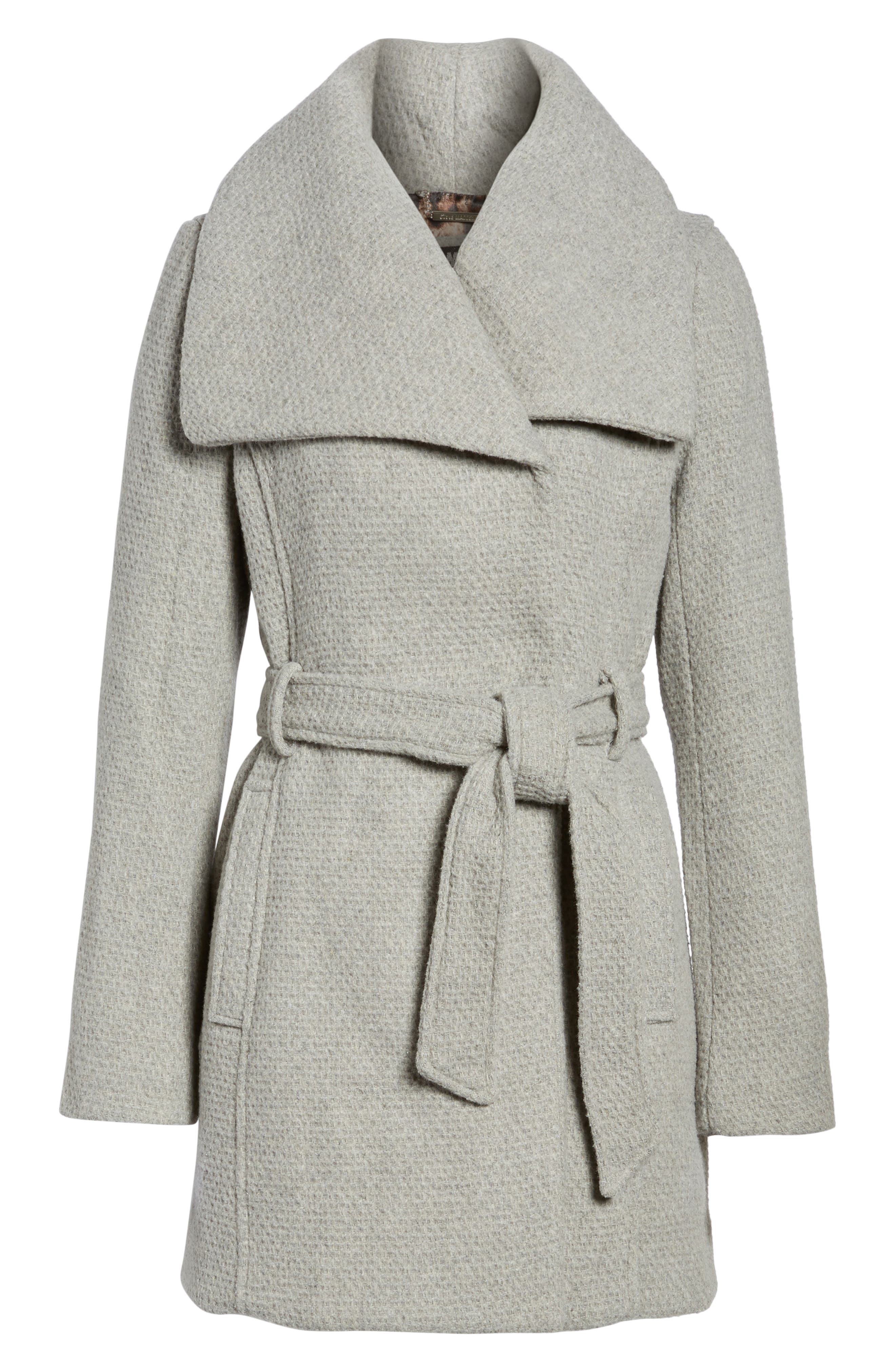 Belted Waffle Woven Coat,                             Alternate thumbnail 5, color,                             038