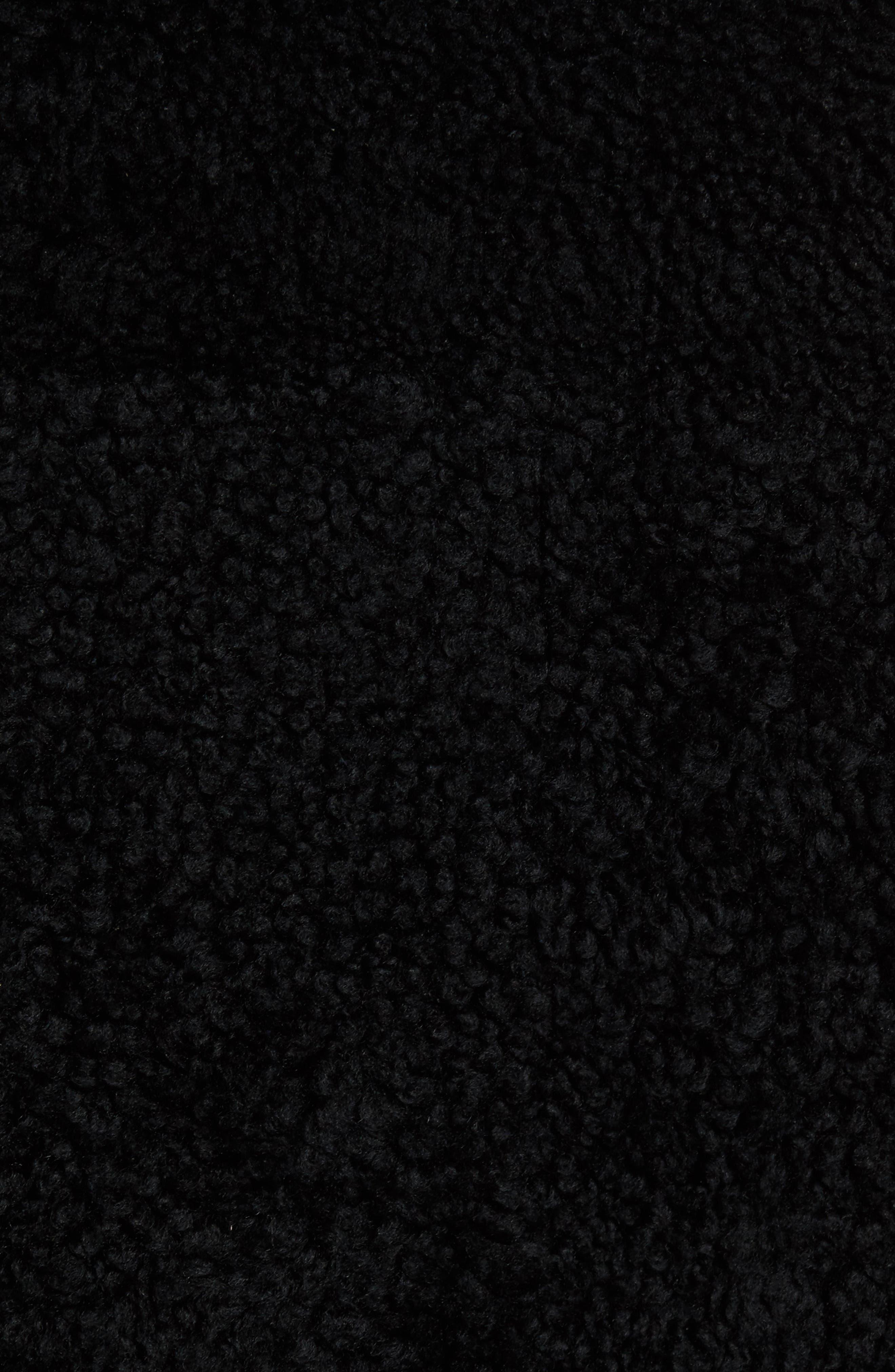 Reversible Genuine Shearling Peacoat,                             Alternate thumbnail 6, color,                             001