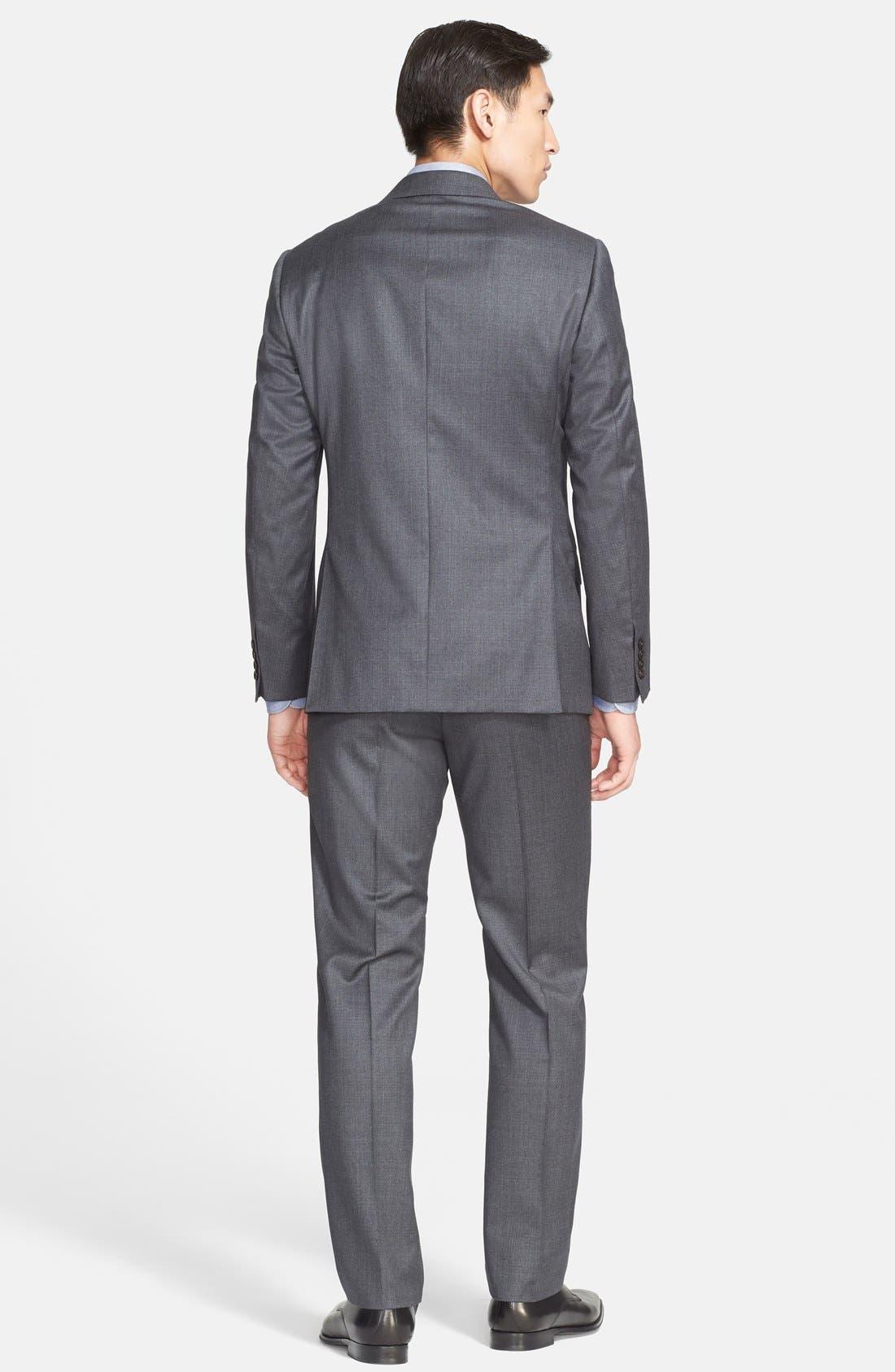 G-Line Trim Fit Solid Wool Suit,                             Alternate thumbnail 10, color,