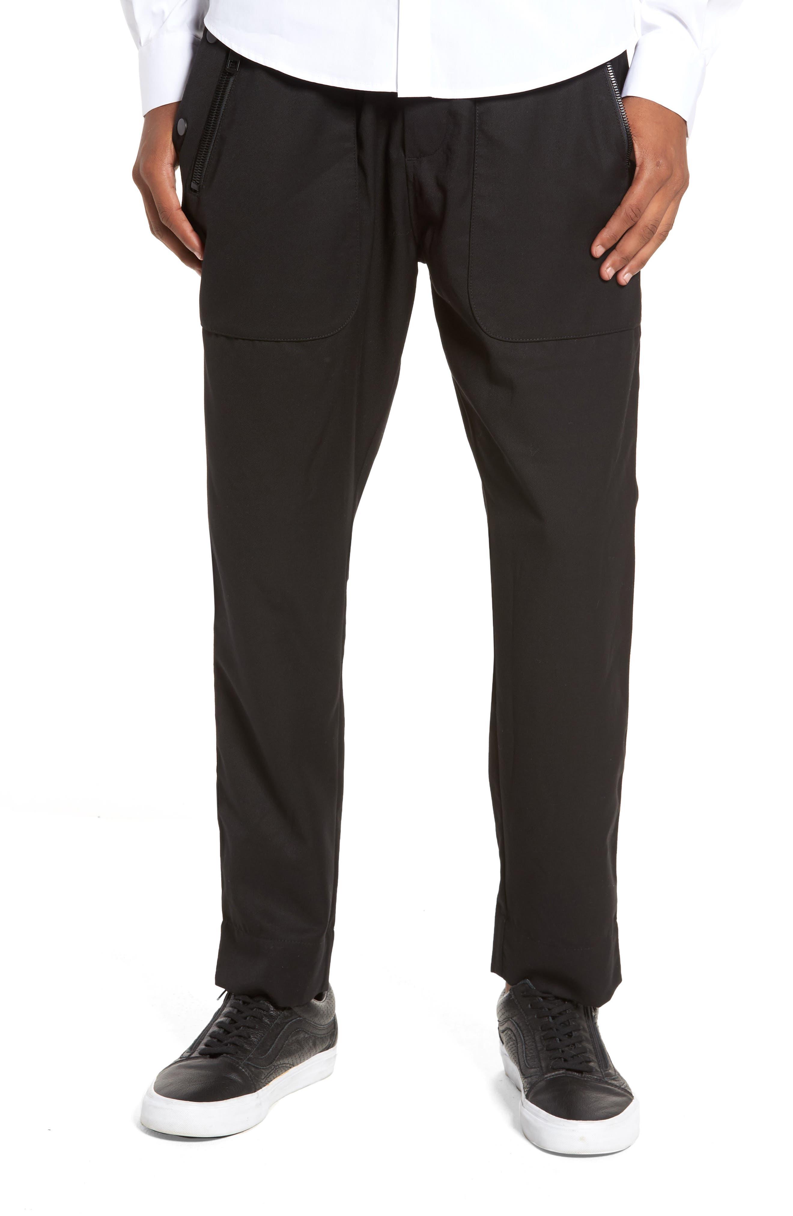 Drawstring Zip Pocket Pants,                             Main thumbnail 1, color,                             001
