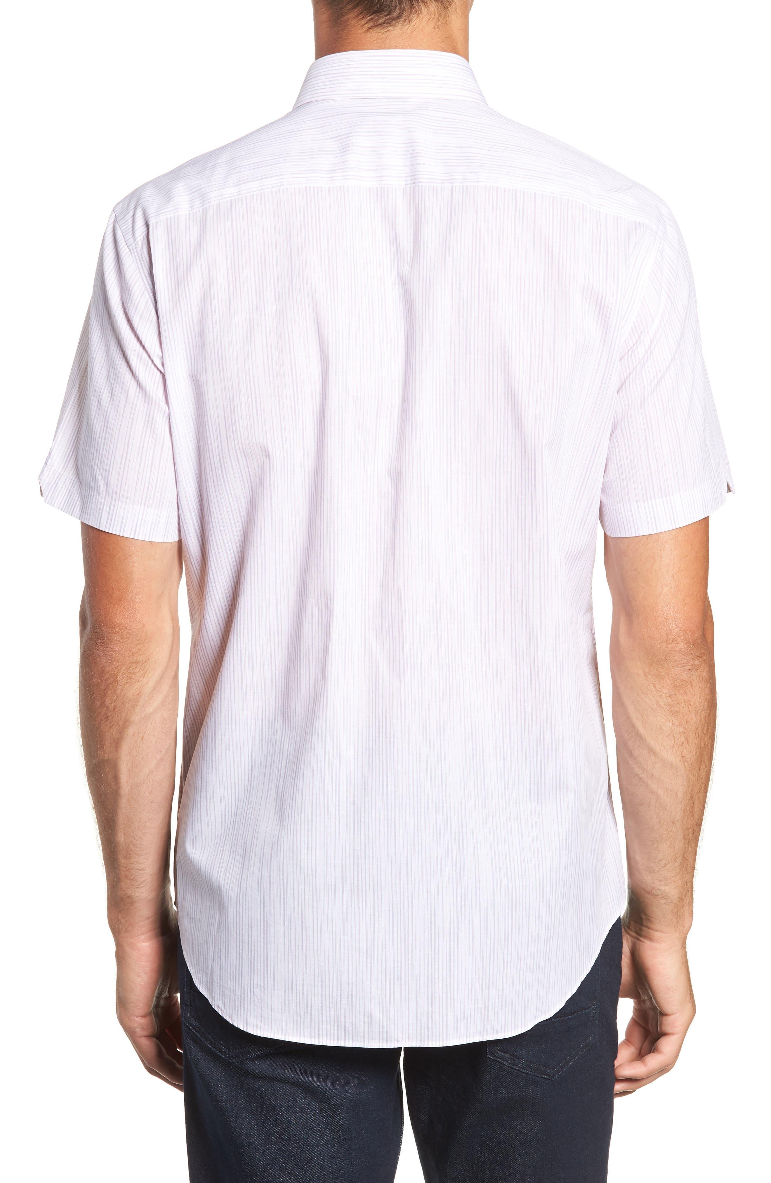 Bella Regular Fit Sport Shirt,                             Alternate thumbnail 3, color,                             LIGHT PINK