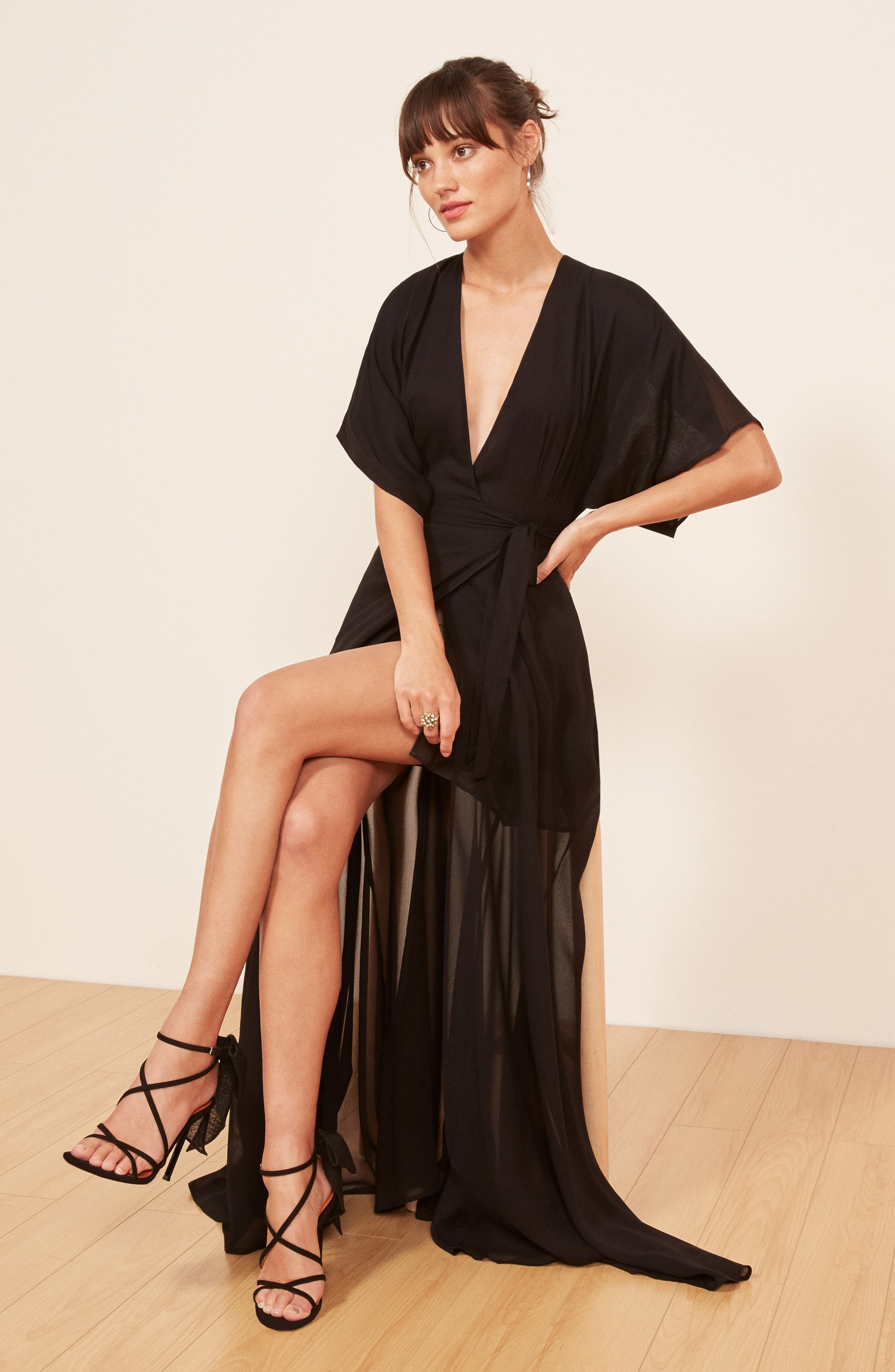 Winslow Maxi Dress,                             Alternate thumbnail 8, color,                             BLACK