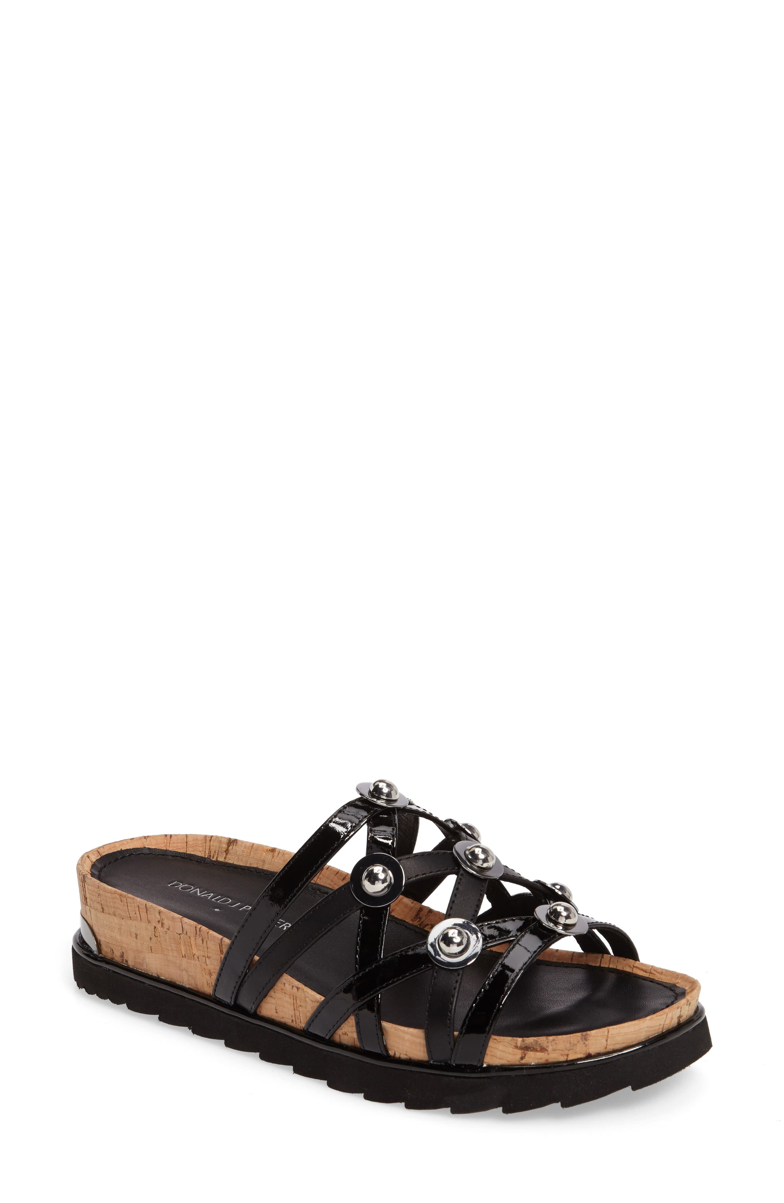 Donald J Pliner Chrisa Wedge Slide Sandal,                         Main,                         color, 001