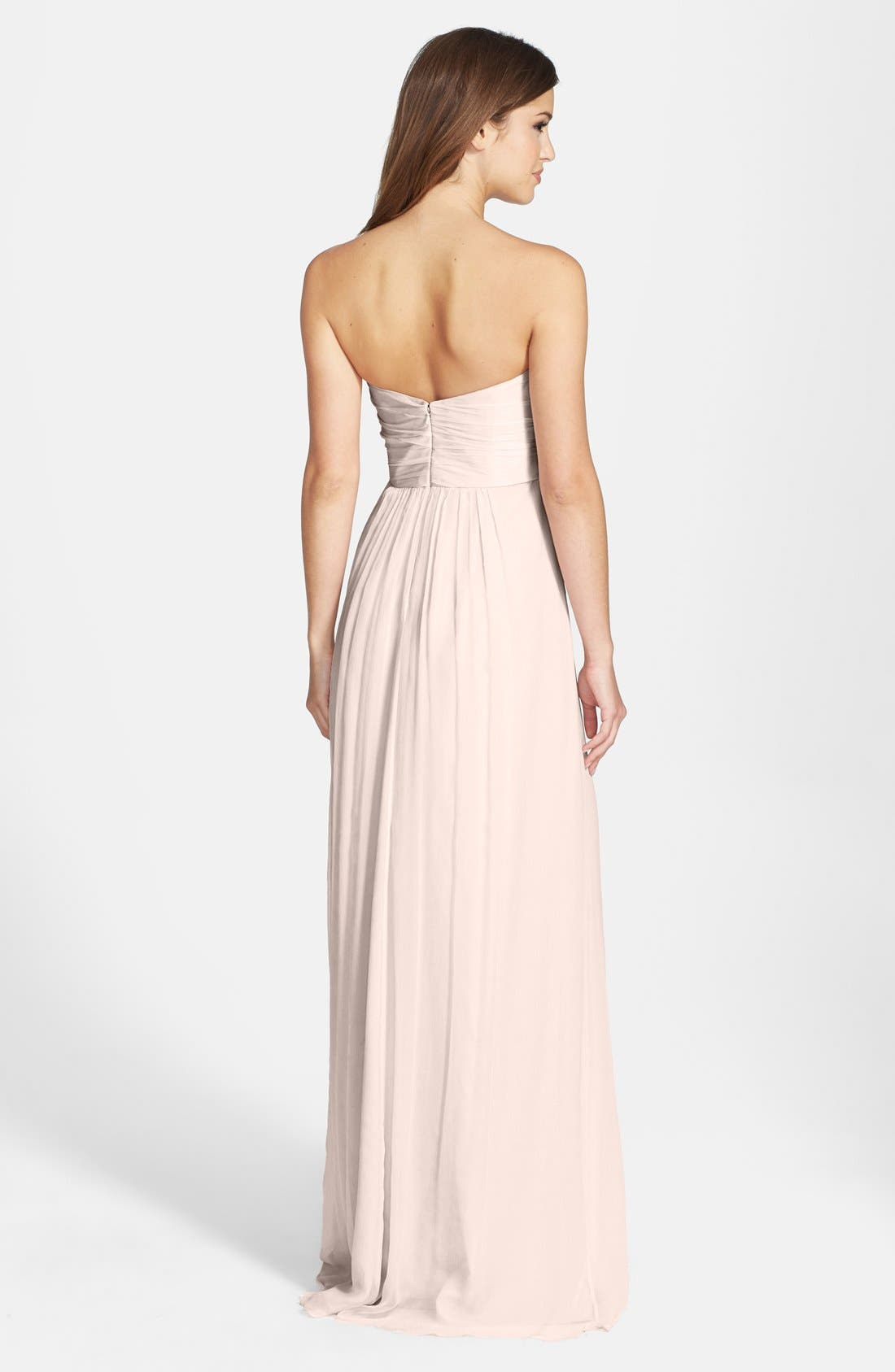 Strapless Crinkle Chiffon Gown,                             Alternate thumbnail 32, color,