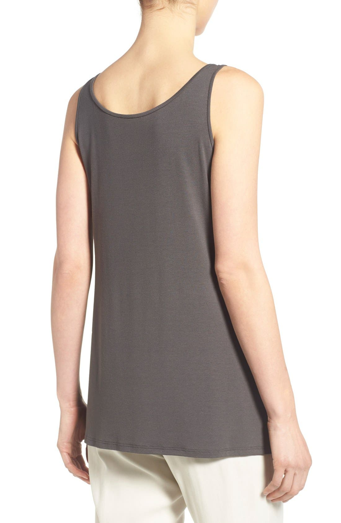 Jersey Scoop Neck Long Tank,                             Alternate thumbnail 33, color,