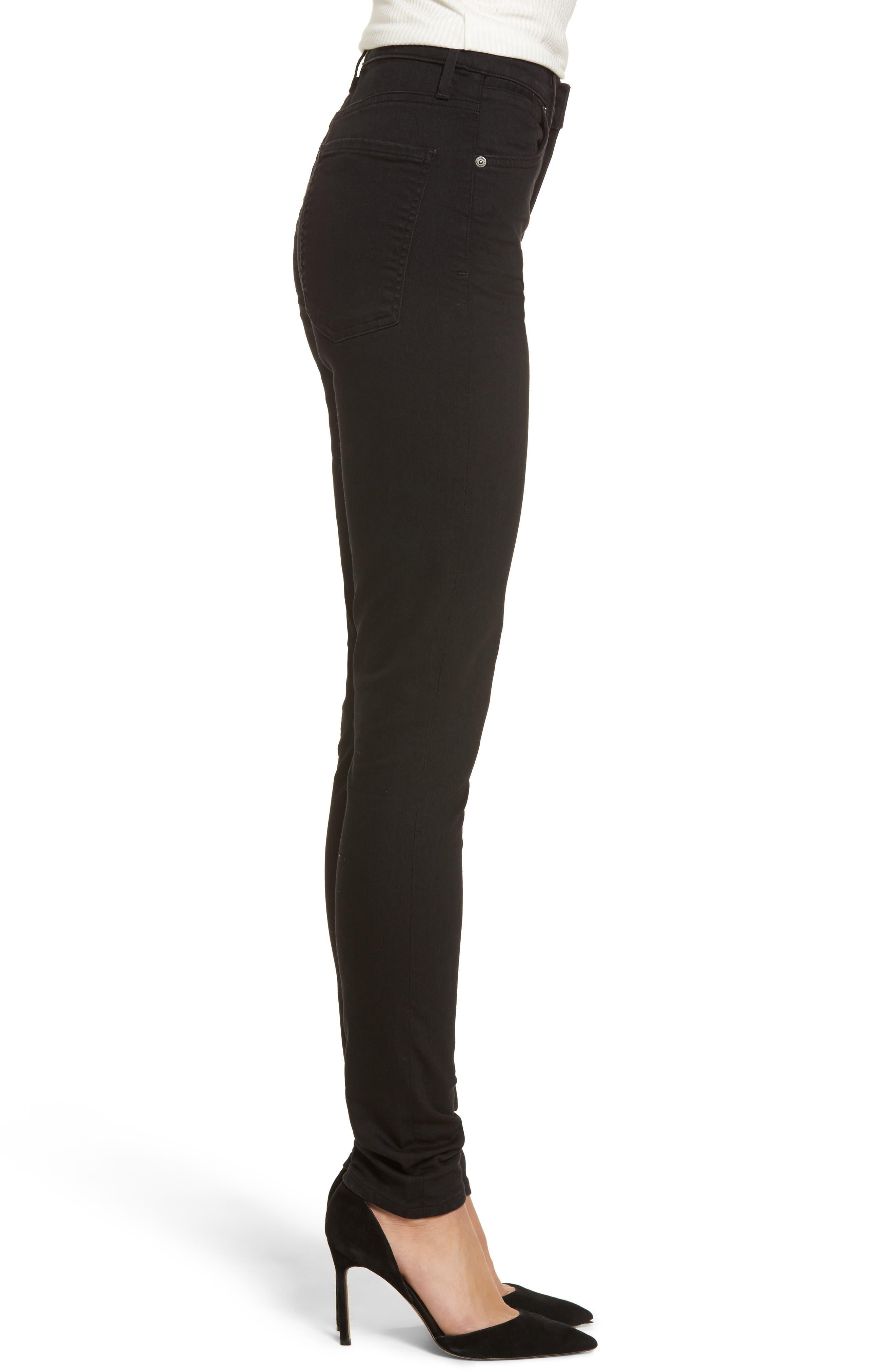 Carlie High Waist Skinny Jeans,                             Alternate thumbnail 3, color,                             011