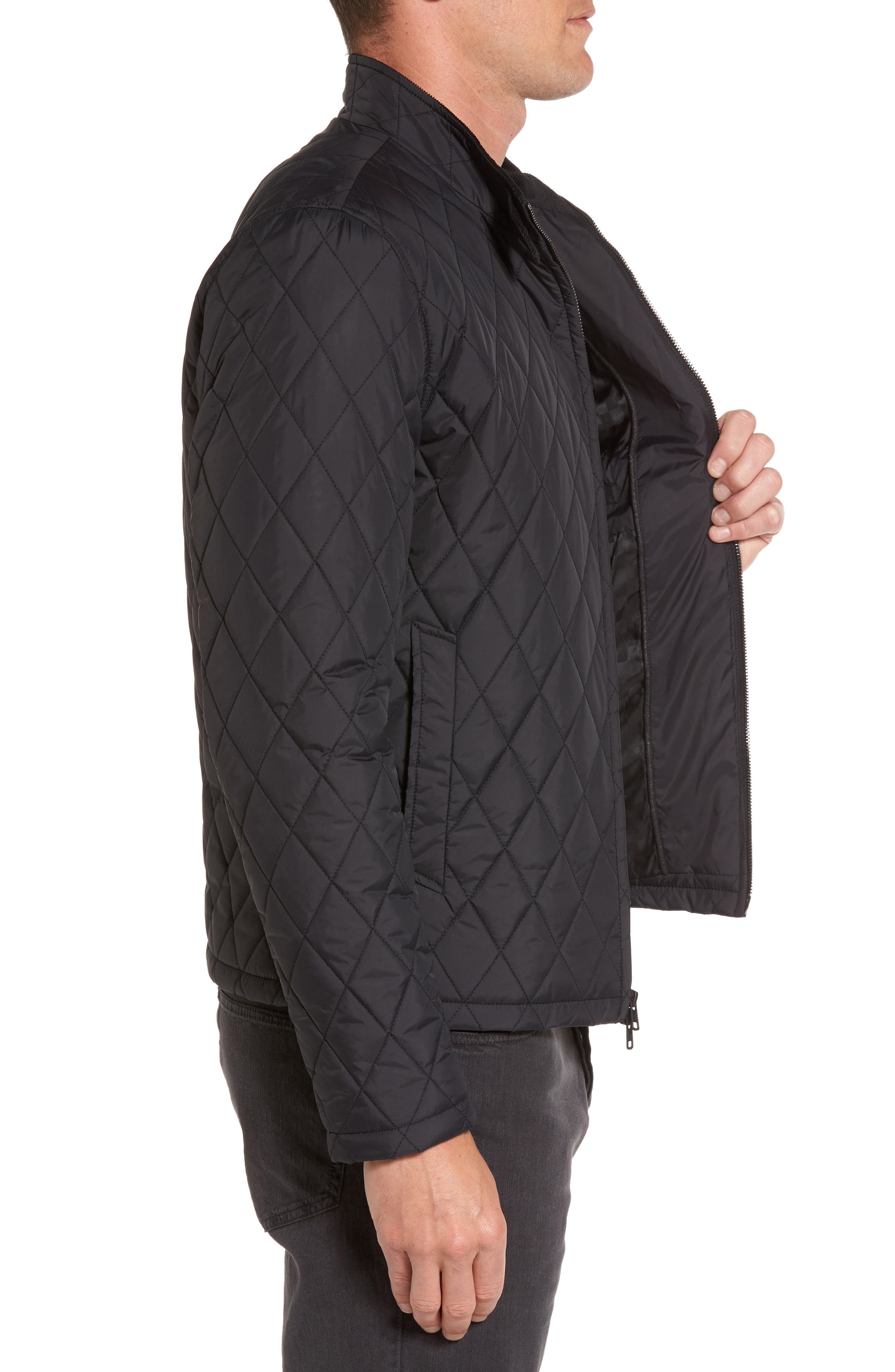 Quilted Moto Jacket,                             Alternate thumbnail 5, color,