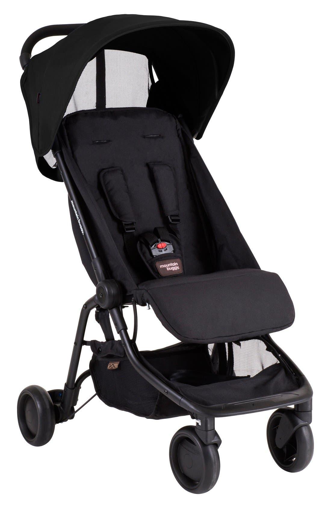 Nano Travel Stroller,                         Main,                         color, BLACK