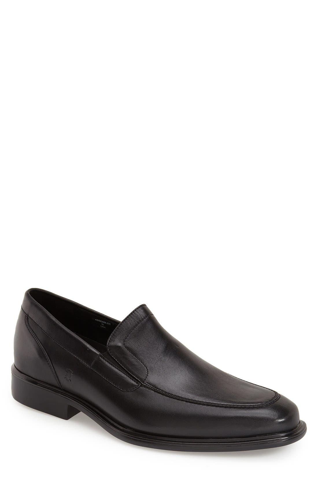 'Chancellor' Venetian Loafer,                             Main thumbnail 1, color,                             BLACK