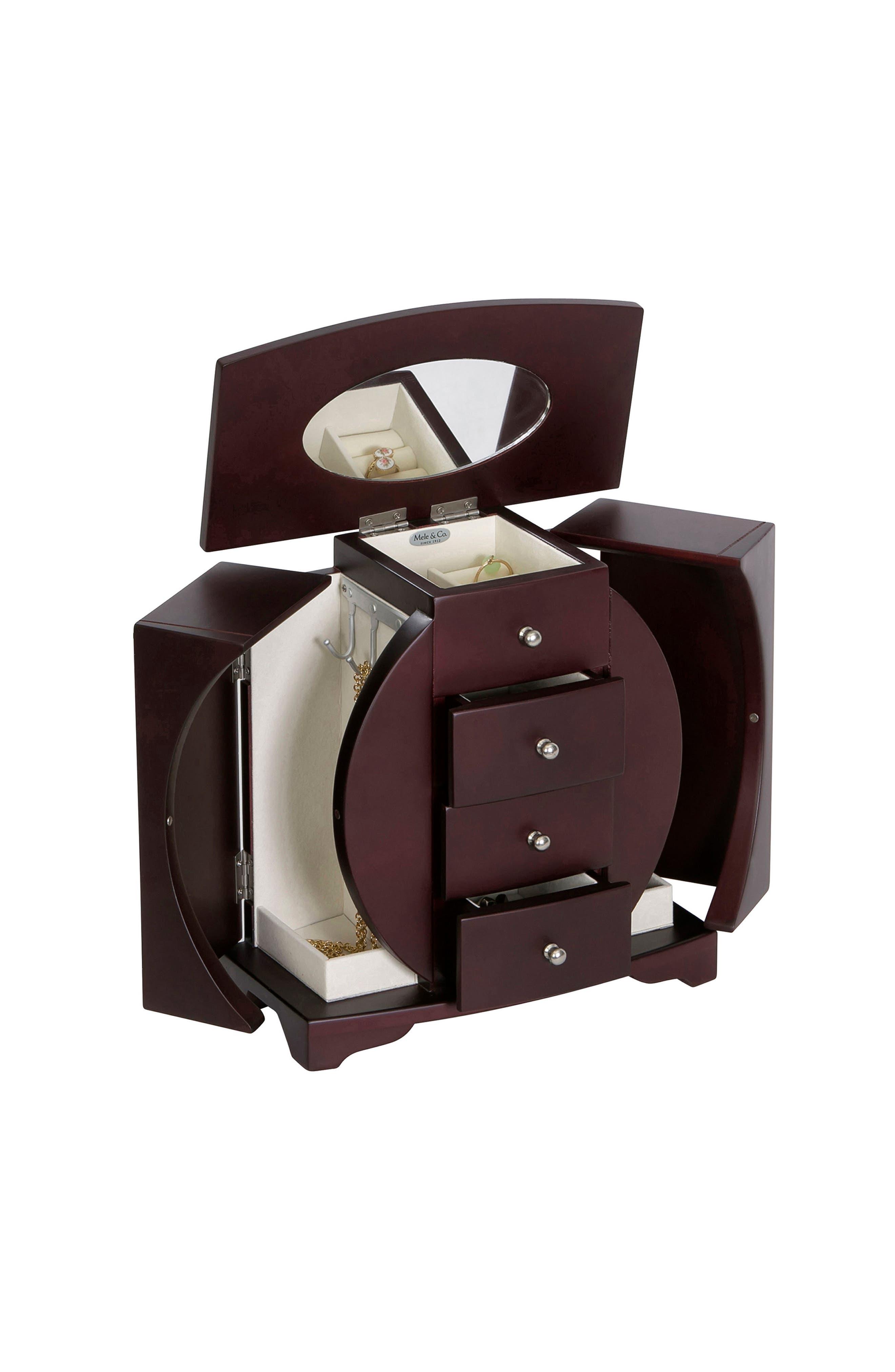 Simone Jewelry Box,                             Alternate thumbnail 2, color,                             BROWN