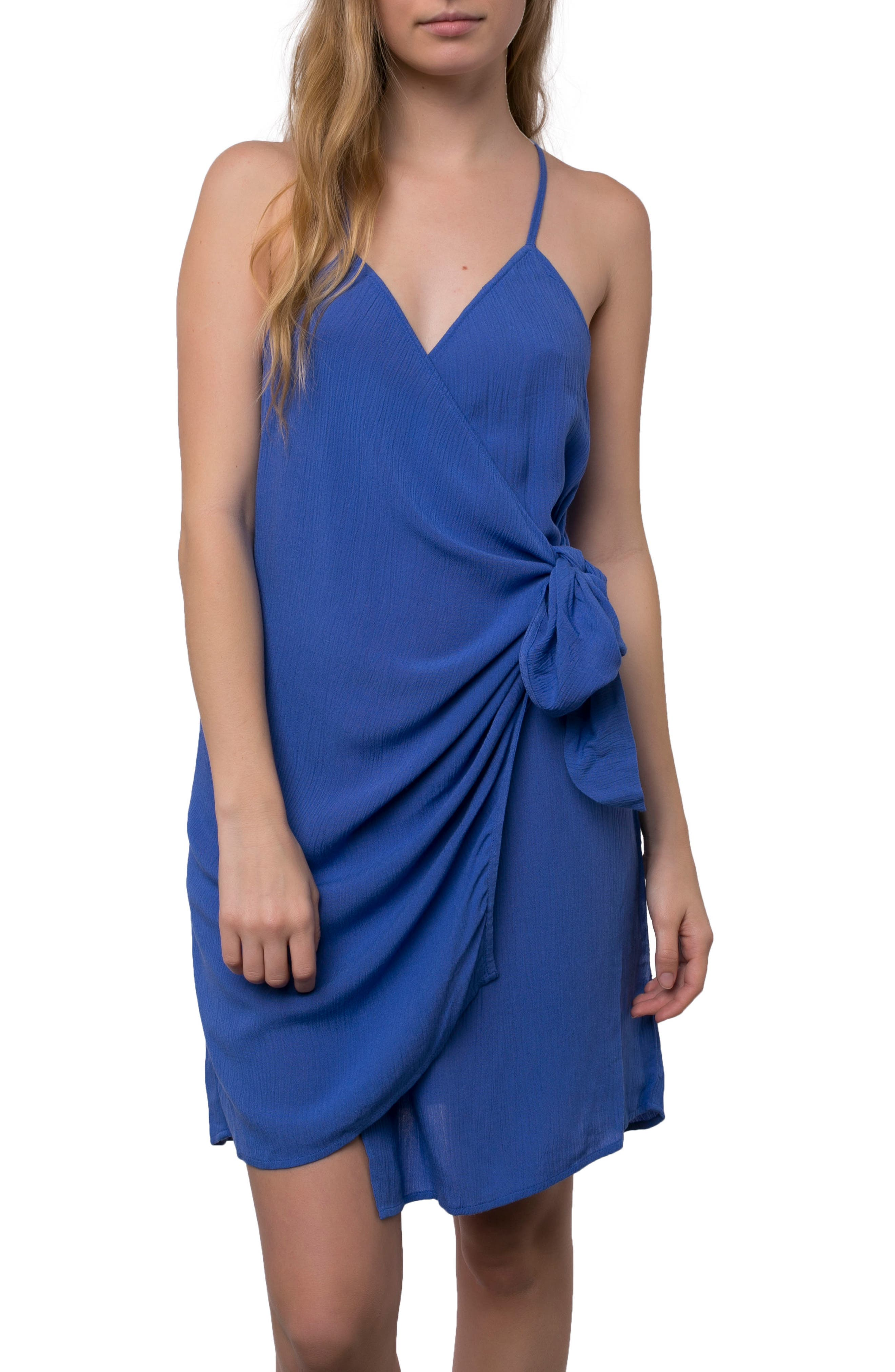 O'NEILL Marlo Wrap Dress, Main, color, 435