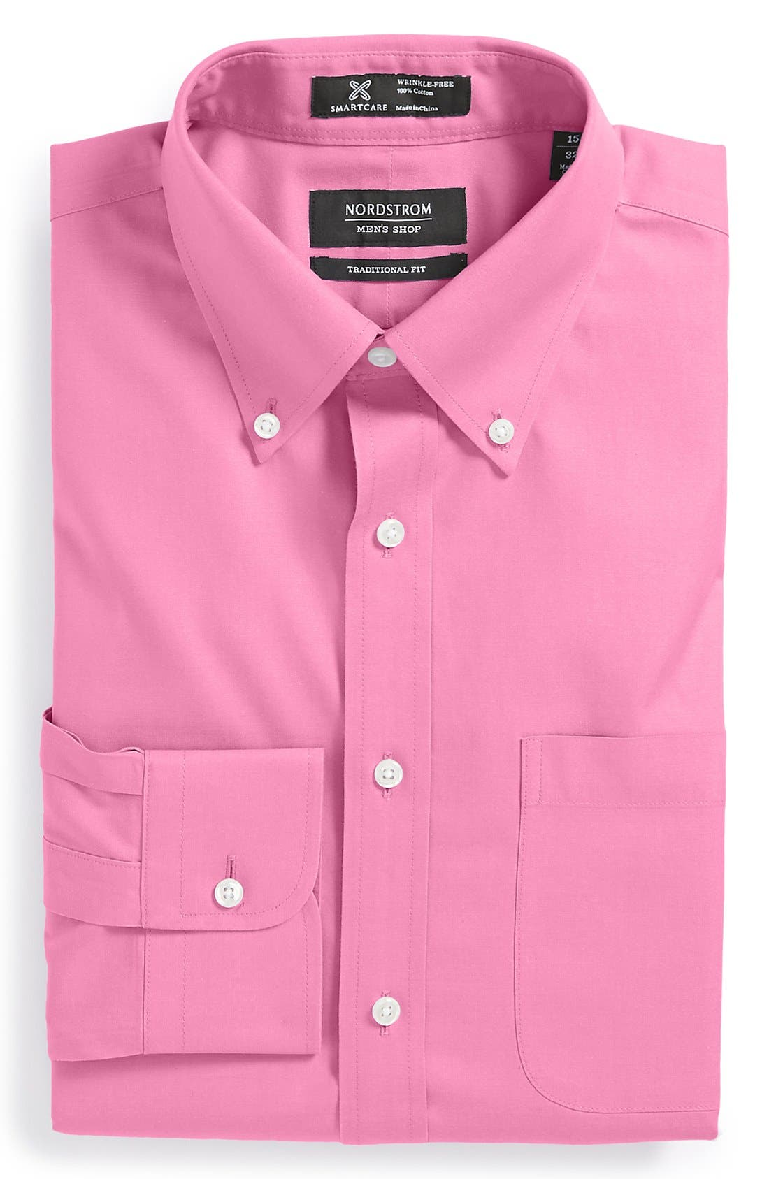 Smartcare<sup>™</sup> Traditional Fit Pinpoint Dress Shirt,                             Main thumbnail 37, color,
