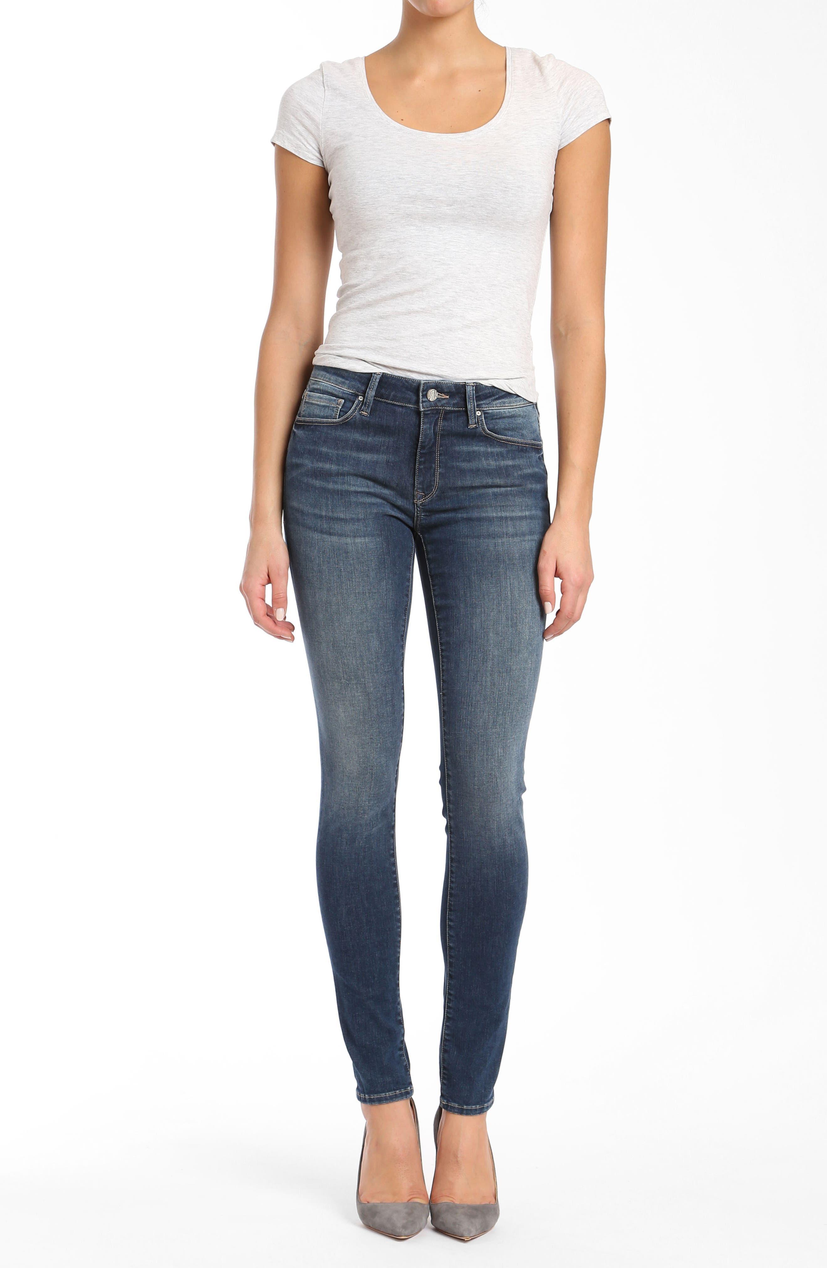 Mavi Adriana Skinny Jeans,                             Alternate thumbnail 5, color,                             420