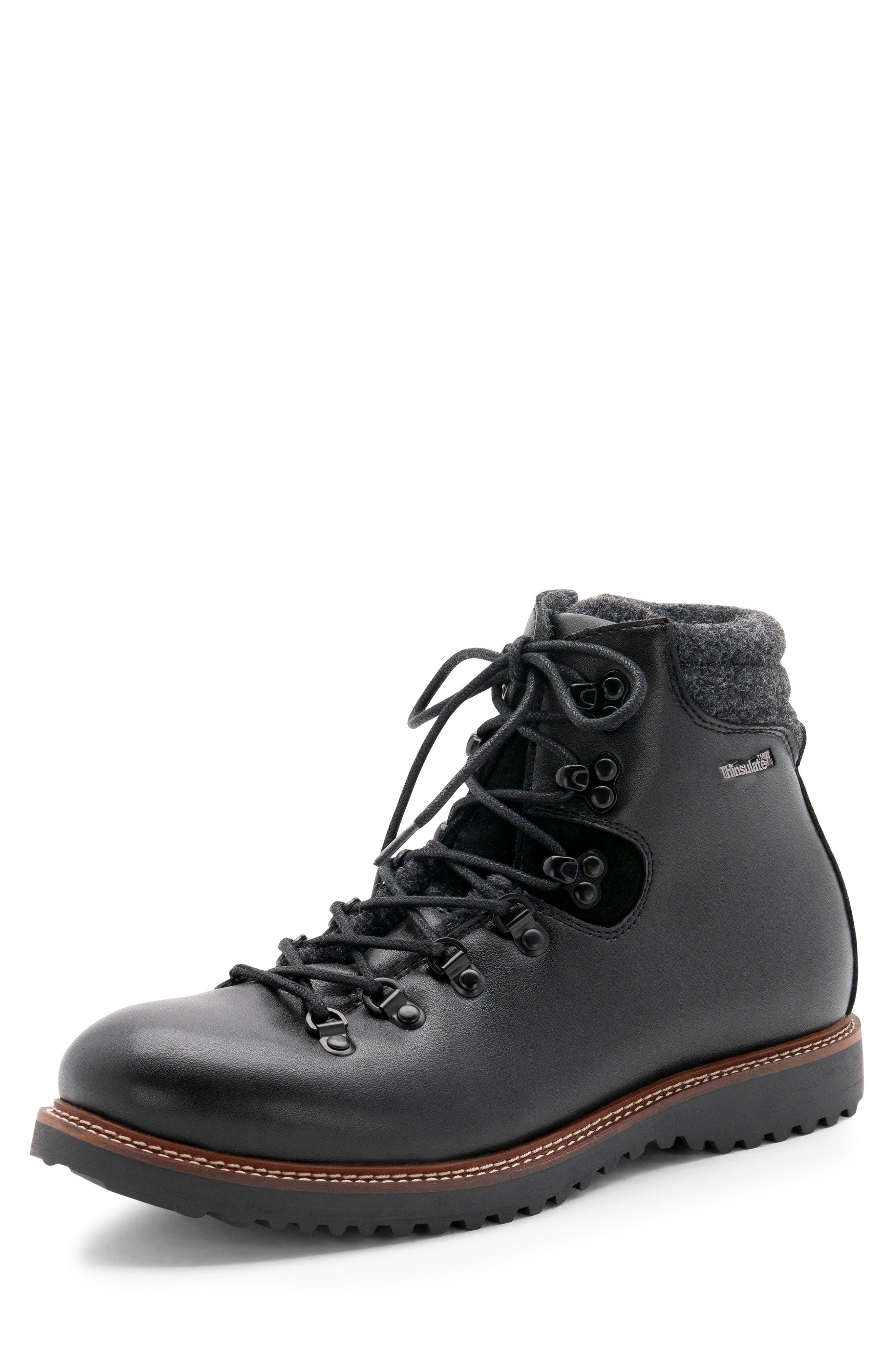 Morgan Waterproof Plain Toe Boot,                             Alternate thumbnail 8, color,                             BLACK LEATHER
