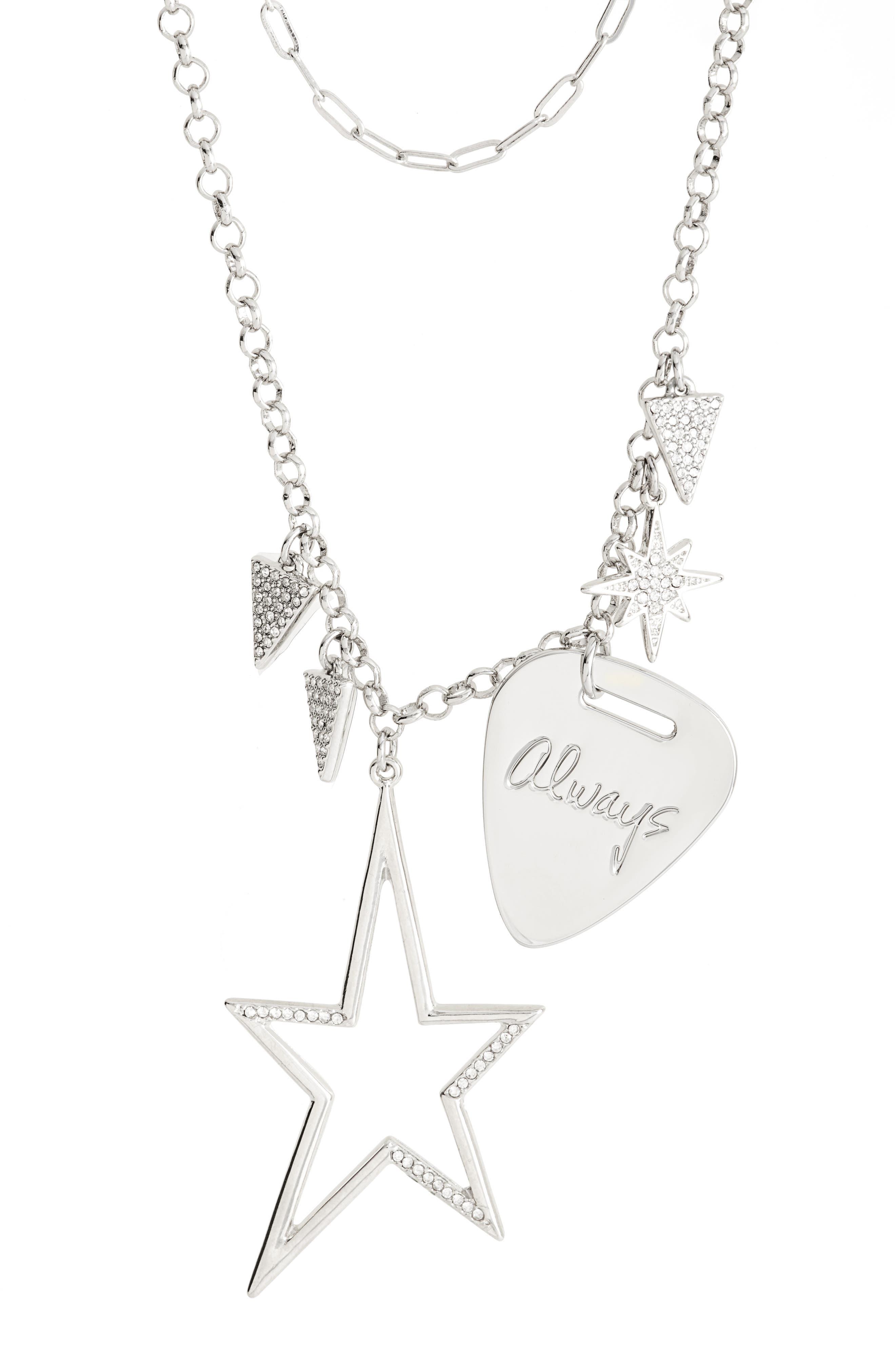 Guitar Pick Charm Necklace,                         Main,                         color, 040