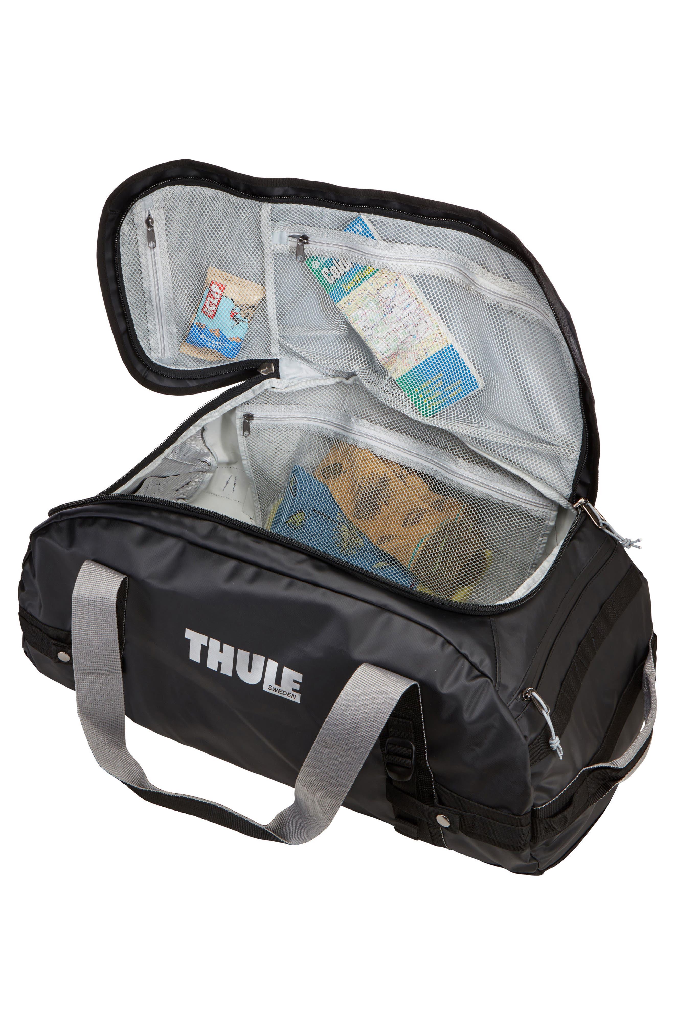Chasm 130-Liter Convertible Duffel Bag,                             Alternate thumbnail 4, color,                             BLACK