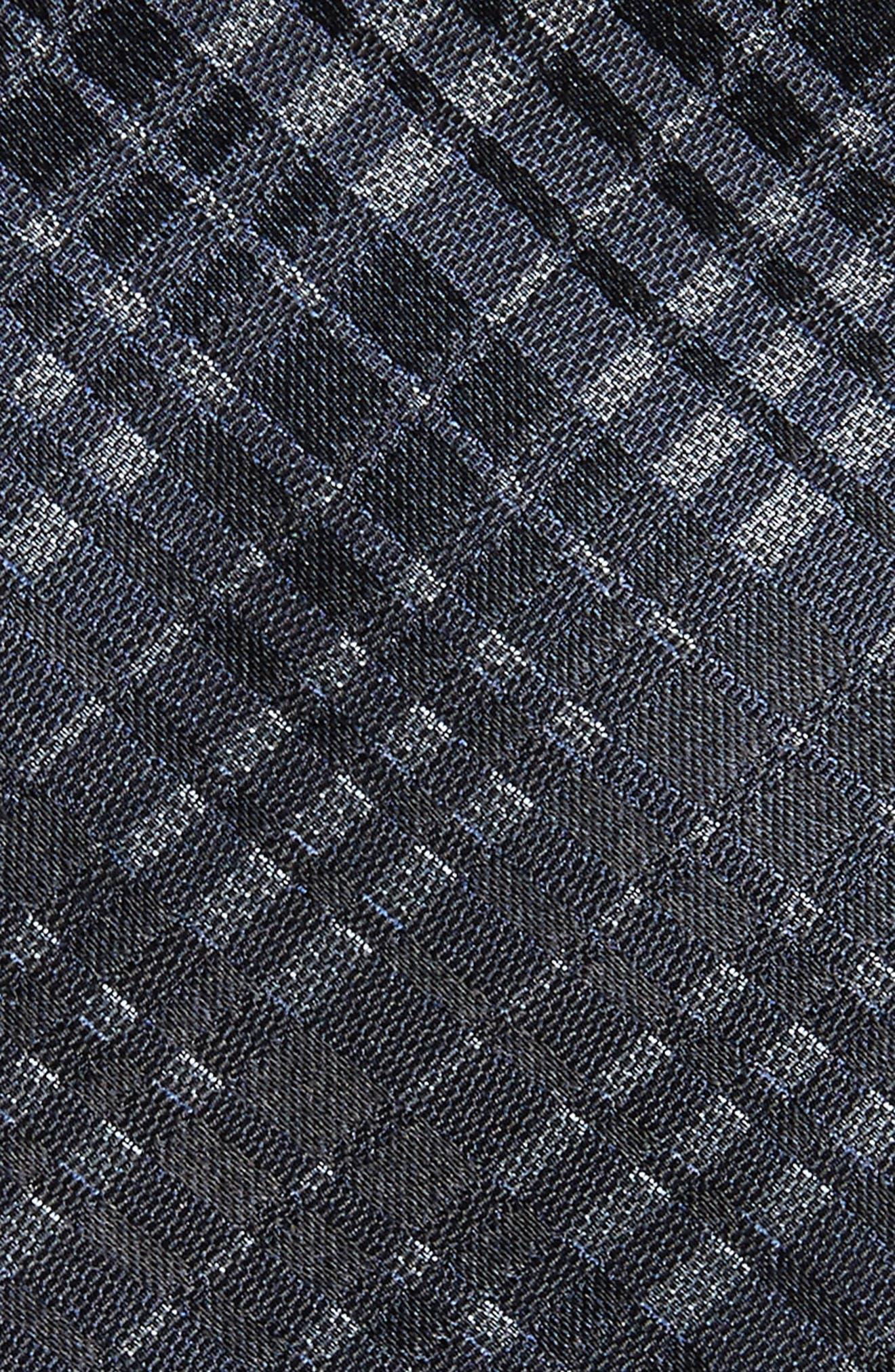Plaid Silk Tie,                             Alternate thumbnail 2, color,                             410