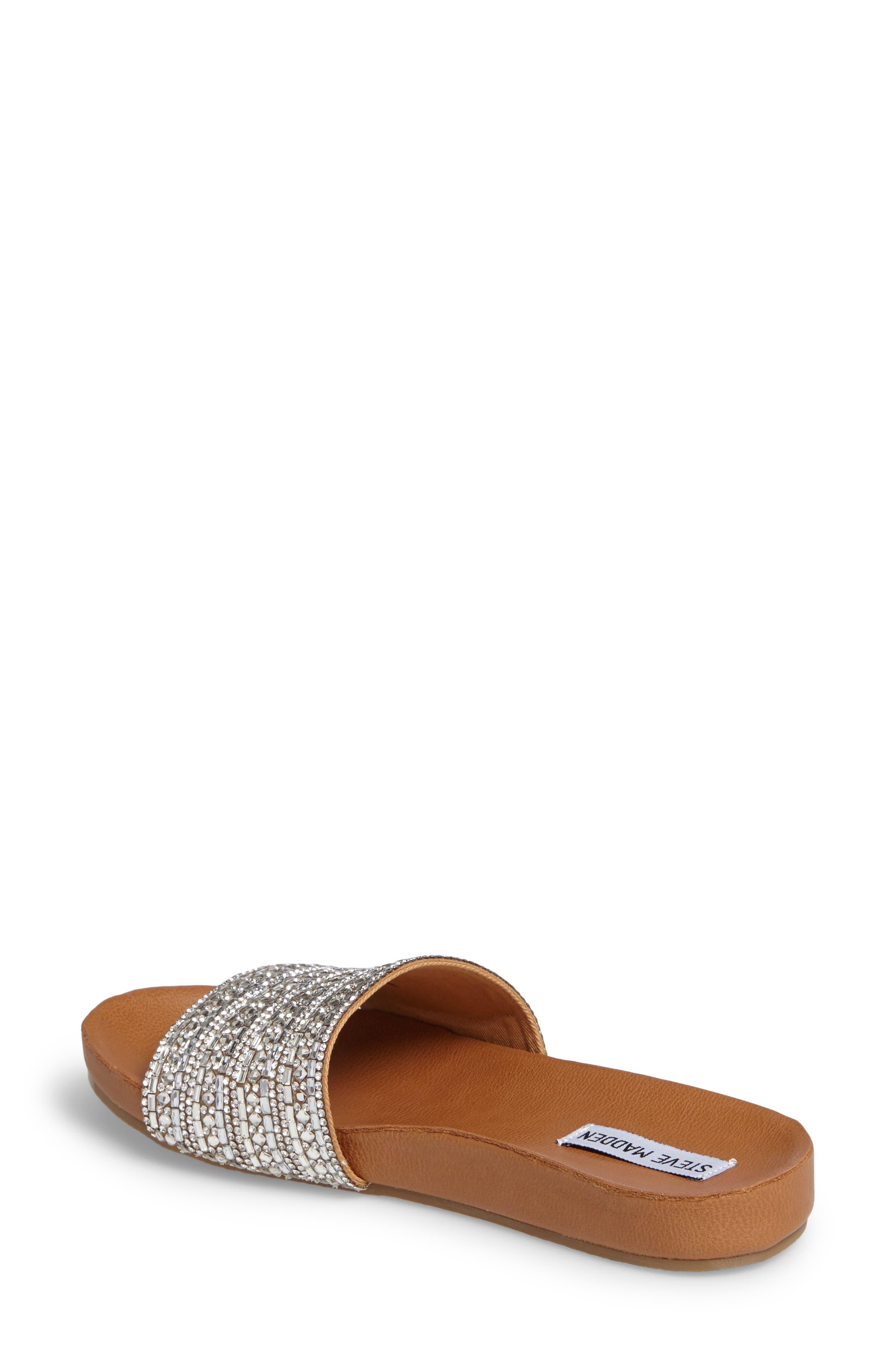 Dazzle Embellished Slide Sandal,                             Alternate thumbnail 4, color,