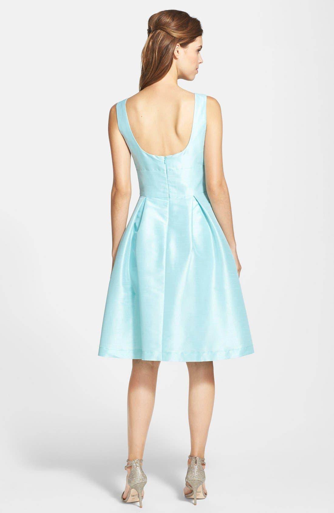 Dupioni Fit & Flare Dress,                             Alternate thumbnail 28, color,