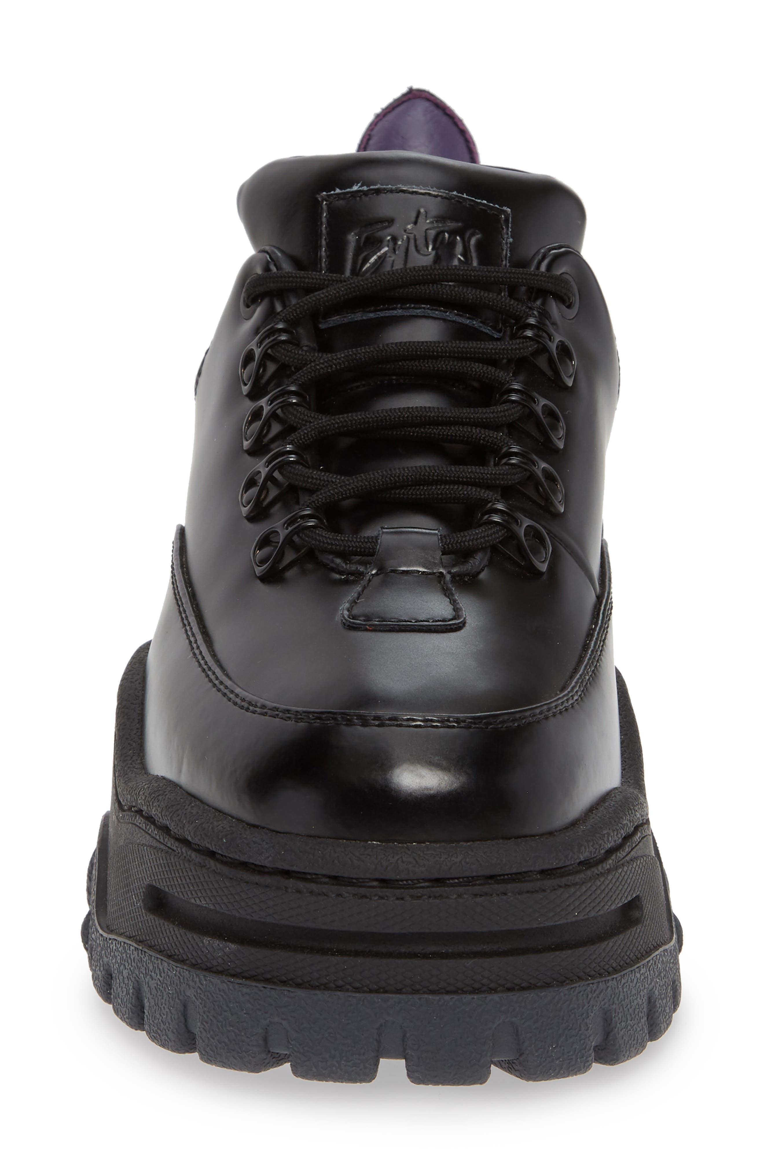 Angel Lug Sole Sneaker,                             Alternate thumbnail 4, color,                             BLACK