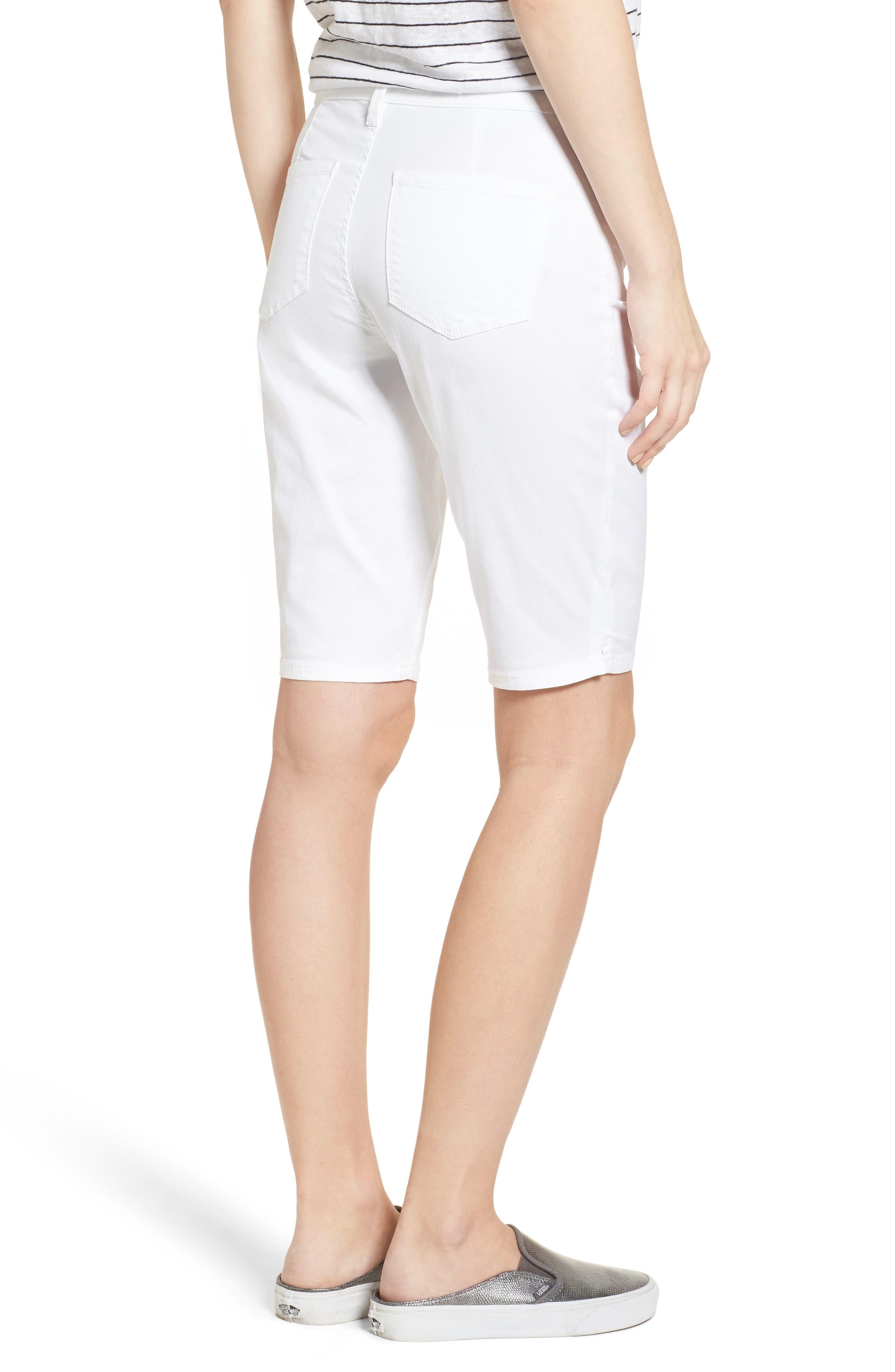 Stretch Twill Bermuda Shorts,                             Alternate thumbnail 2, color,                             OPTIC WHITE