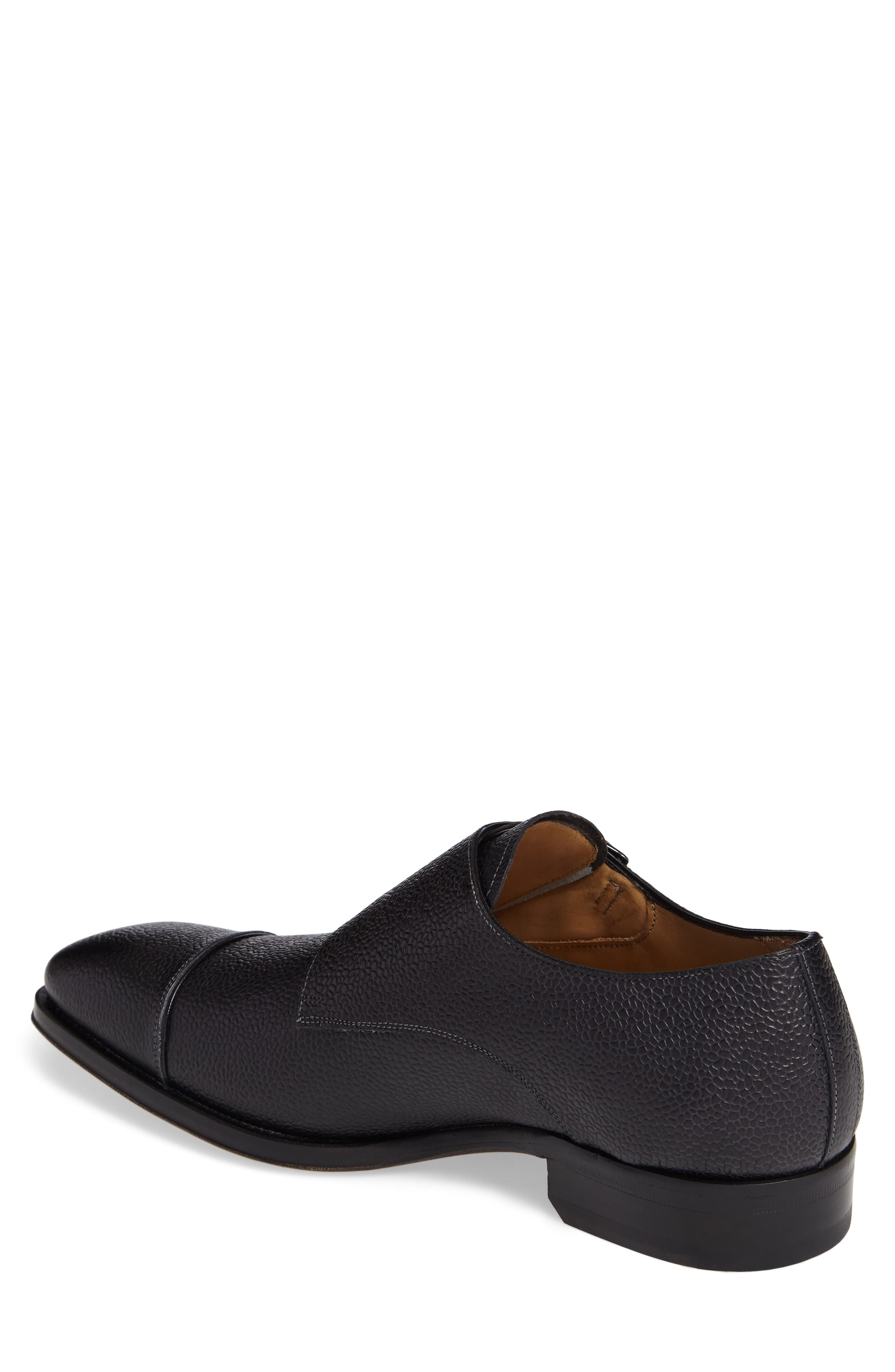 Lubrin Double Monk Strap Shoe,                             Alternate thumbnail 2, color,                             BLACK LEATHER